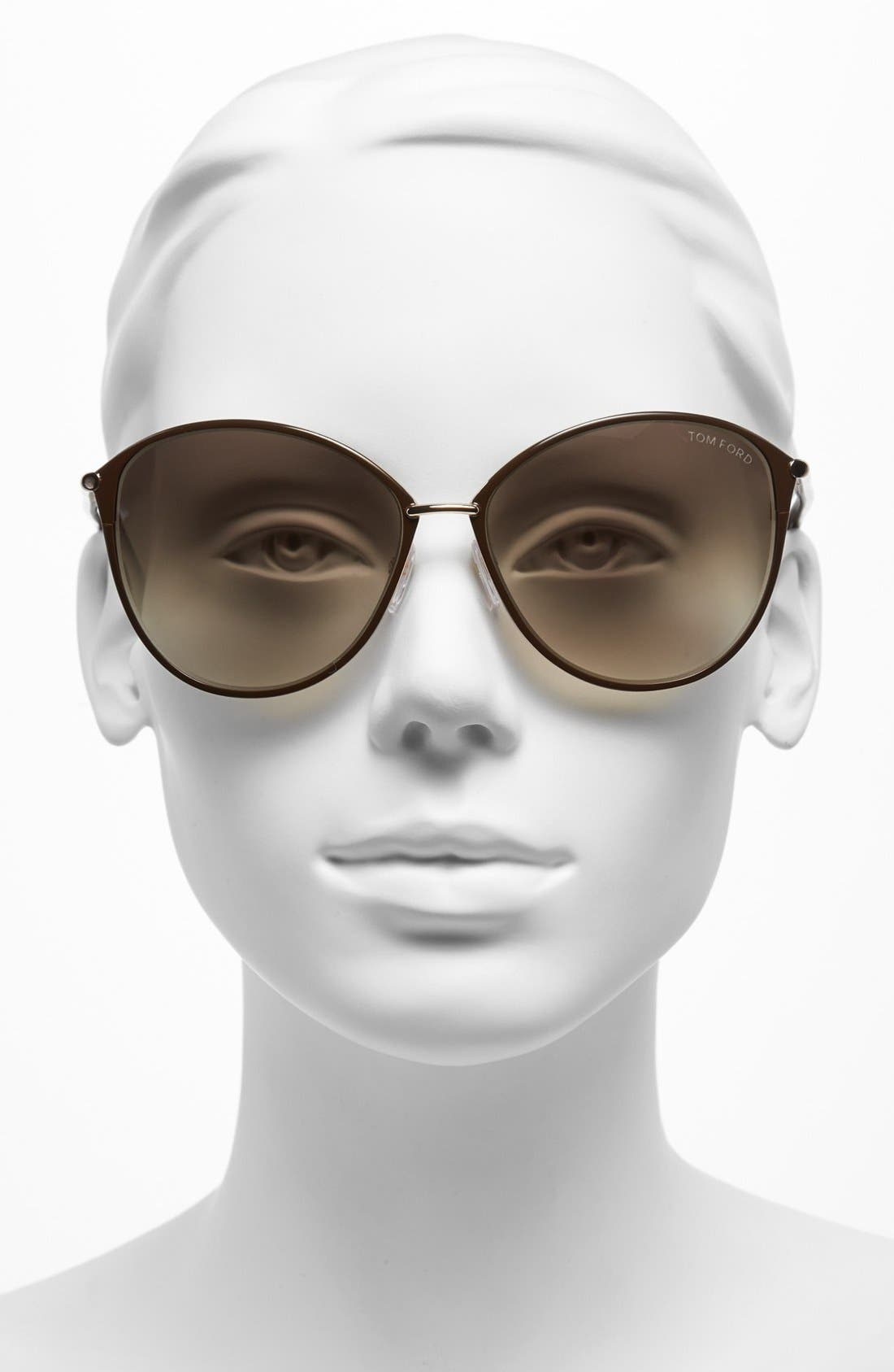 Alternate Image 2  - Tom Ford Penelope 59mm Gradient Cat Eye Sunglasses