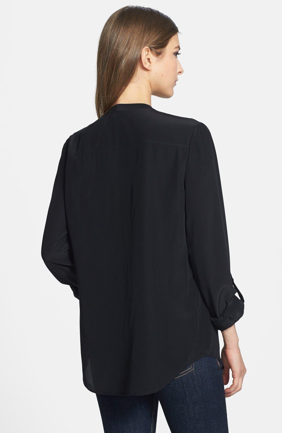 Alternate Image 3  - Trouvé Collarless Silk Blouse