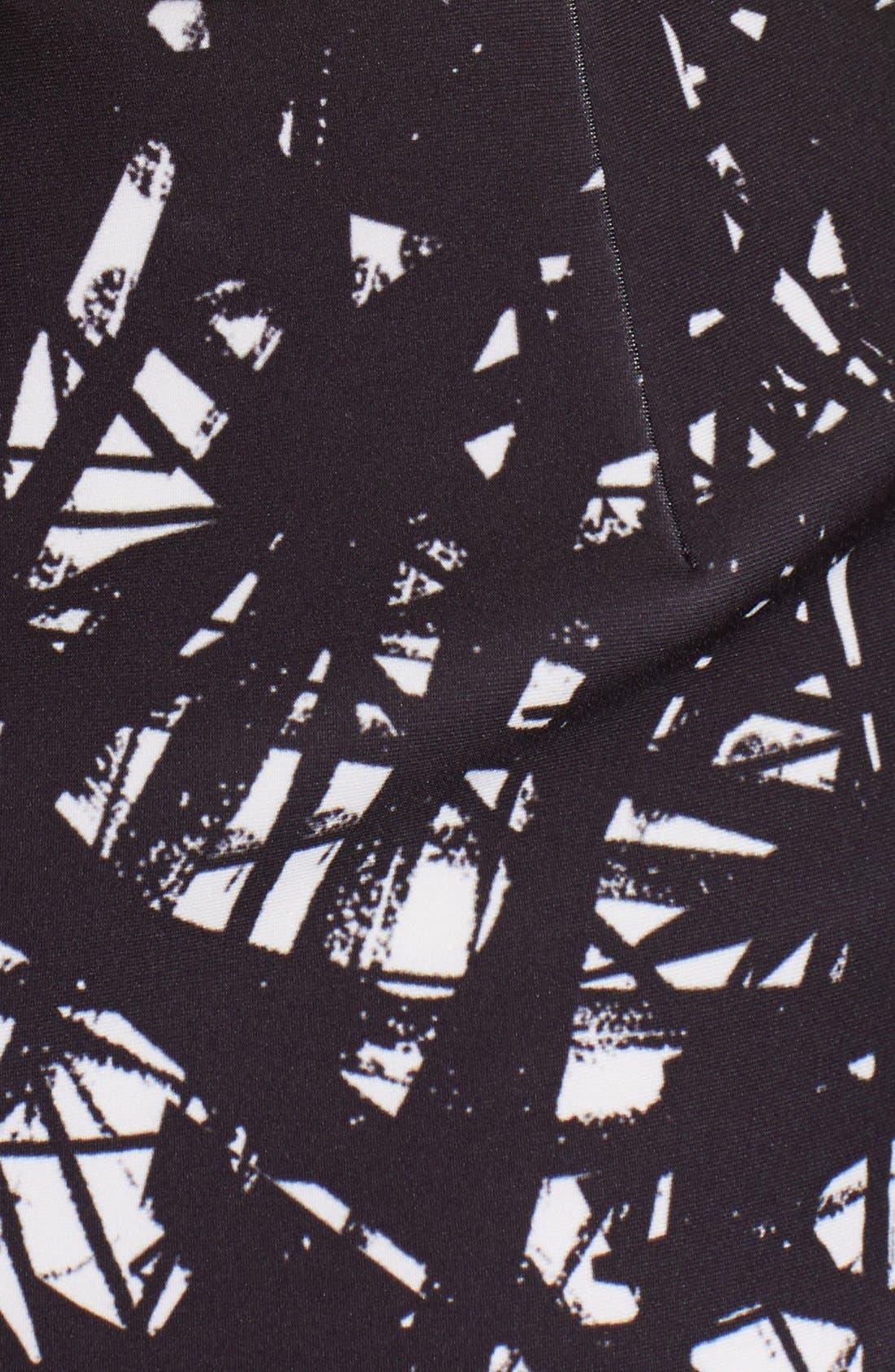 Alternate Image 3  - Yigal Azrouël Branch Print Scuba Skirt