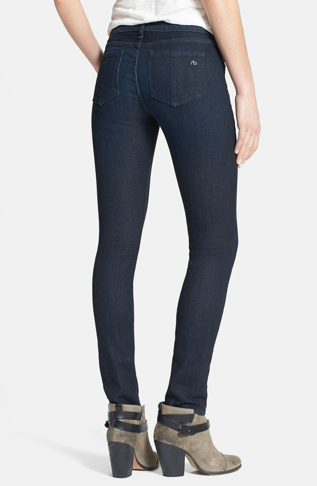 Alternate Image 2  - rag & bone/JEAN Skinny Stretch Jeans (Heritage)