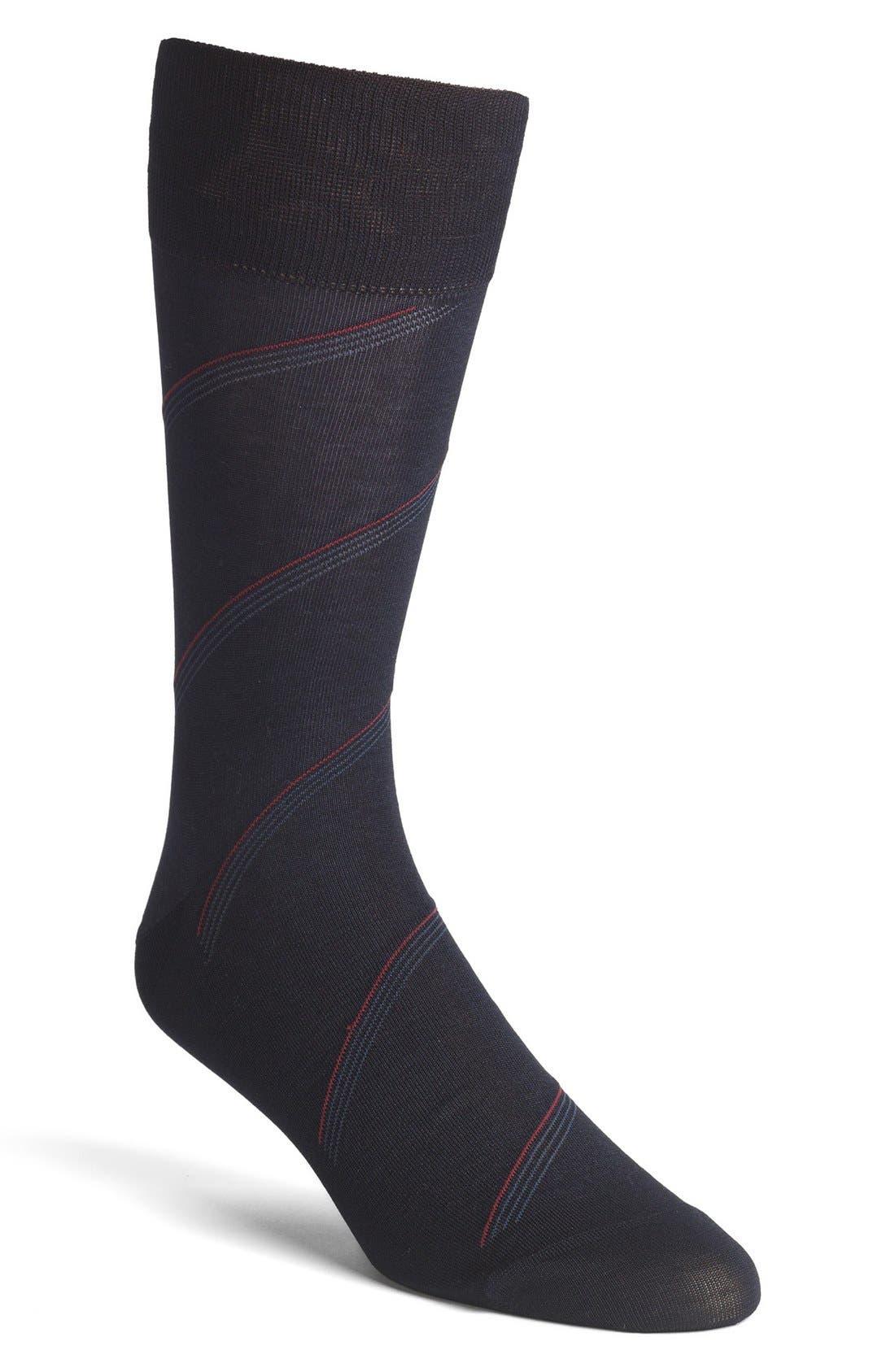 Alternate Image 1 Selected - John W. Nordstrom® Stripe Socks (Men) (3 for $40)