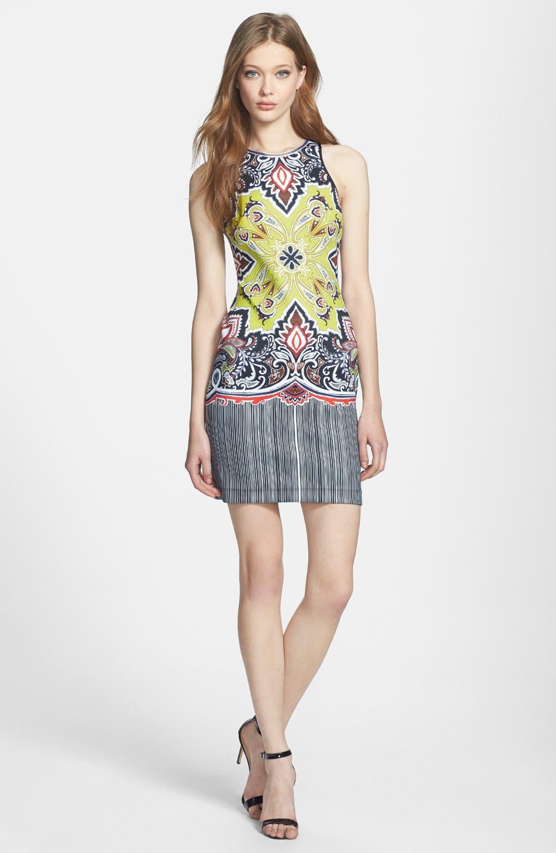 Alternate Image 1 Selected - Clover Canyon 'Havana' Print Scuba Body-Con Dress