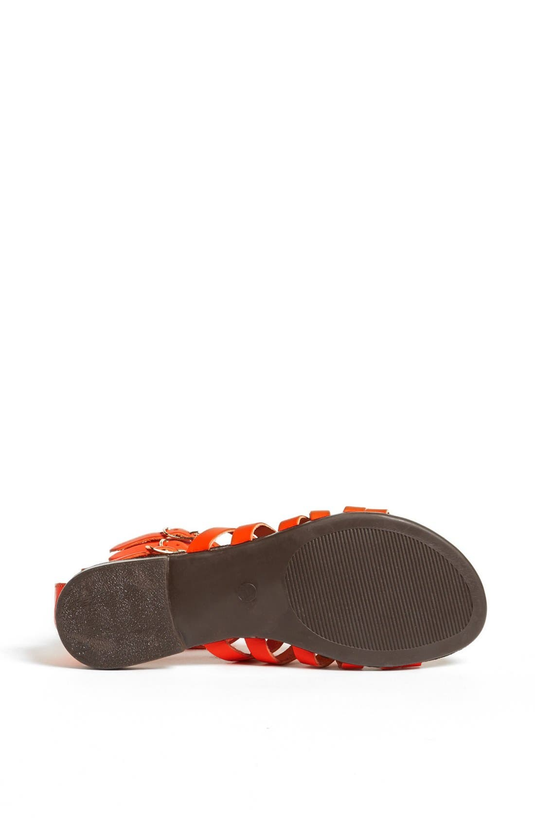 'Plato' Sandal,                             Alternate thumbnail 4, color,                             Orange