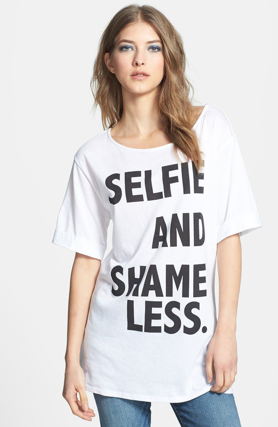 Alternate Image 1 Selected - Madison & Berkeley 'Selfie and Shameless' Tee