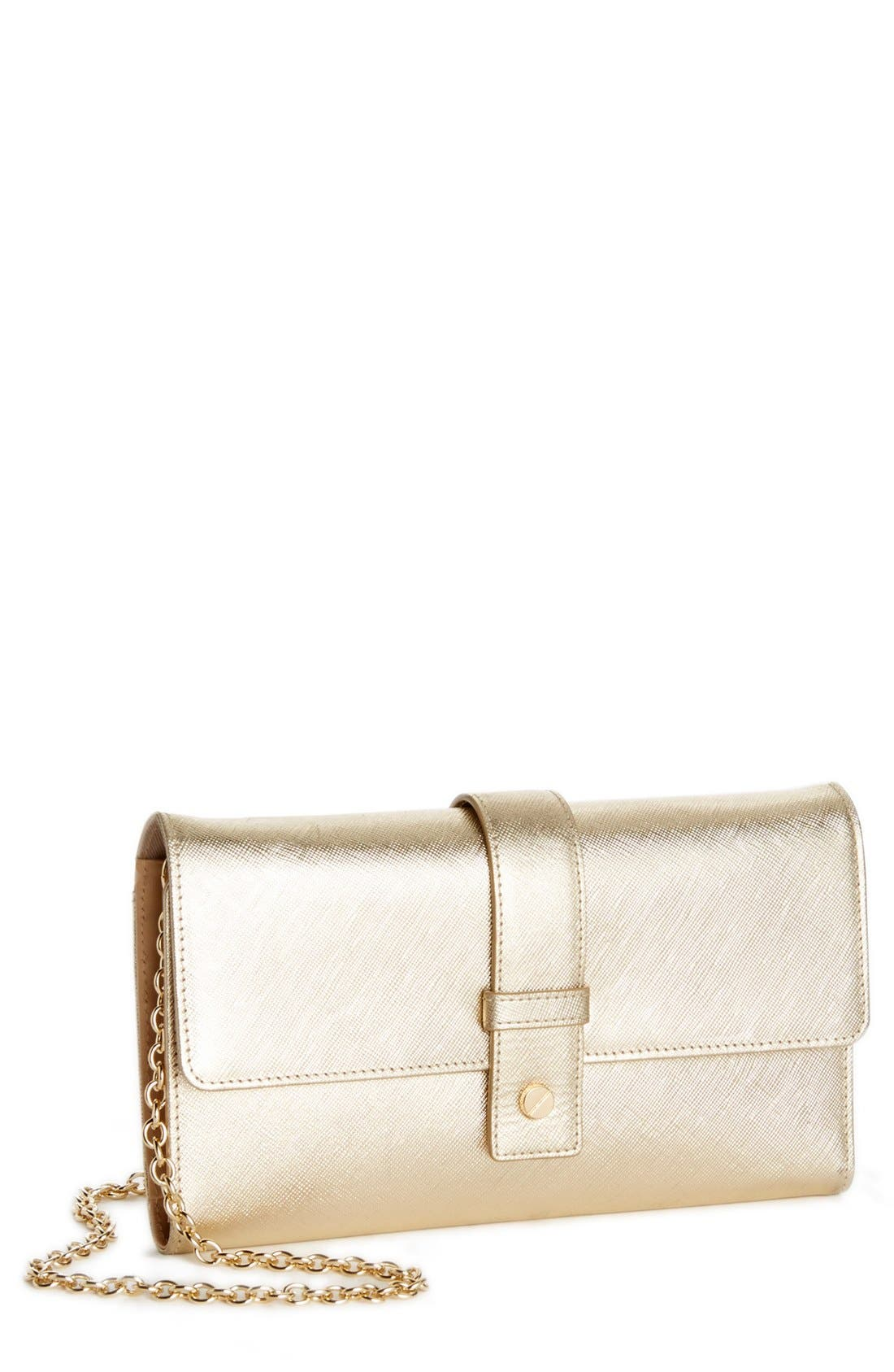Alternate Image 1 Selected - Halogen® Saffiano Leather Crossbody Clutch Wallet