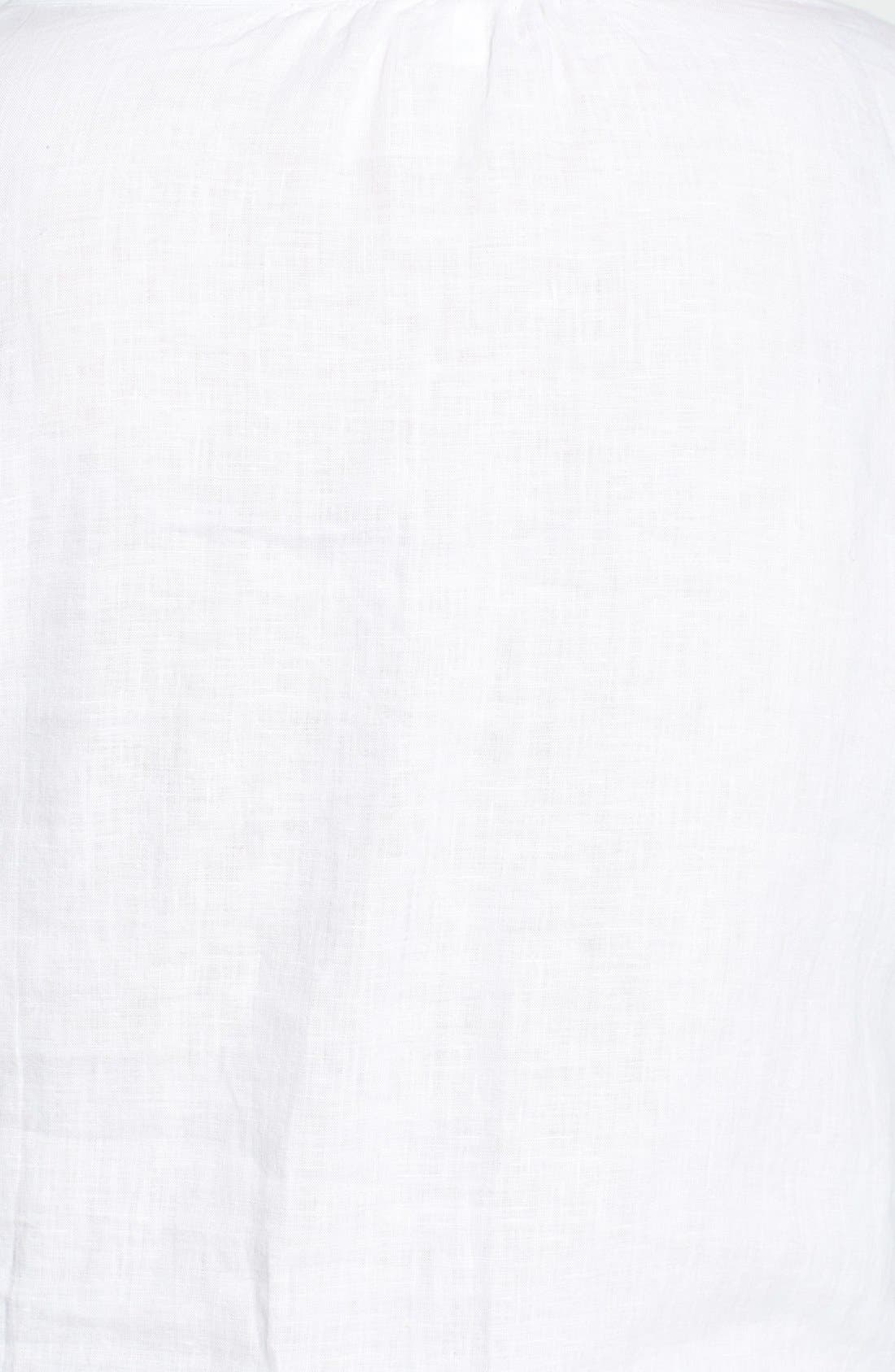 Alternate Image 3  - Eileen Fisher Wide Neck Boxy Linen Top (Plus Size)