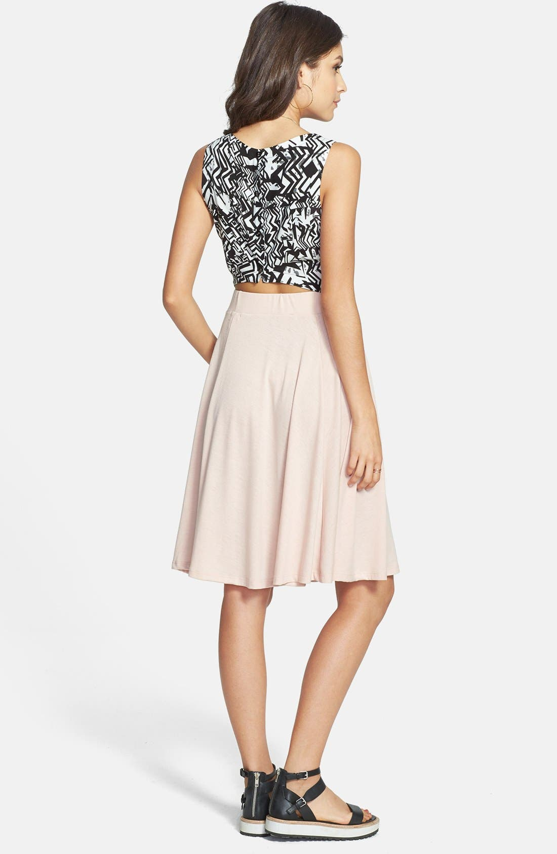 Alternate Image 2  - Ten Sixty Sherman A-Line Midi Skirt (Juniors) (Online Only)