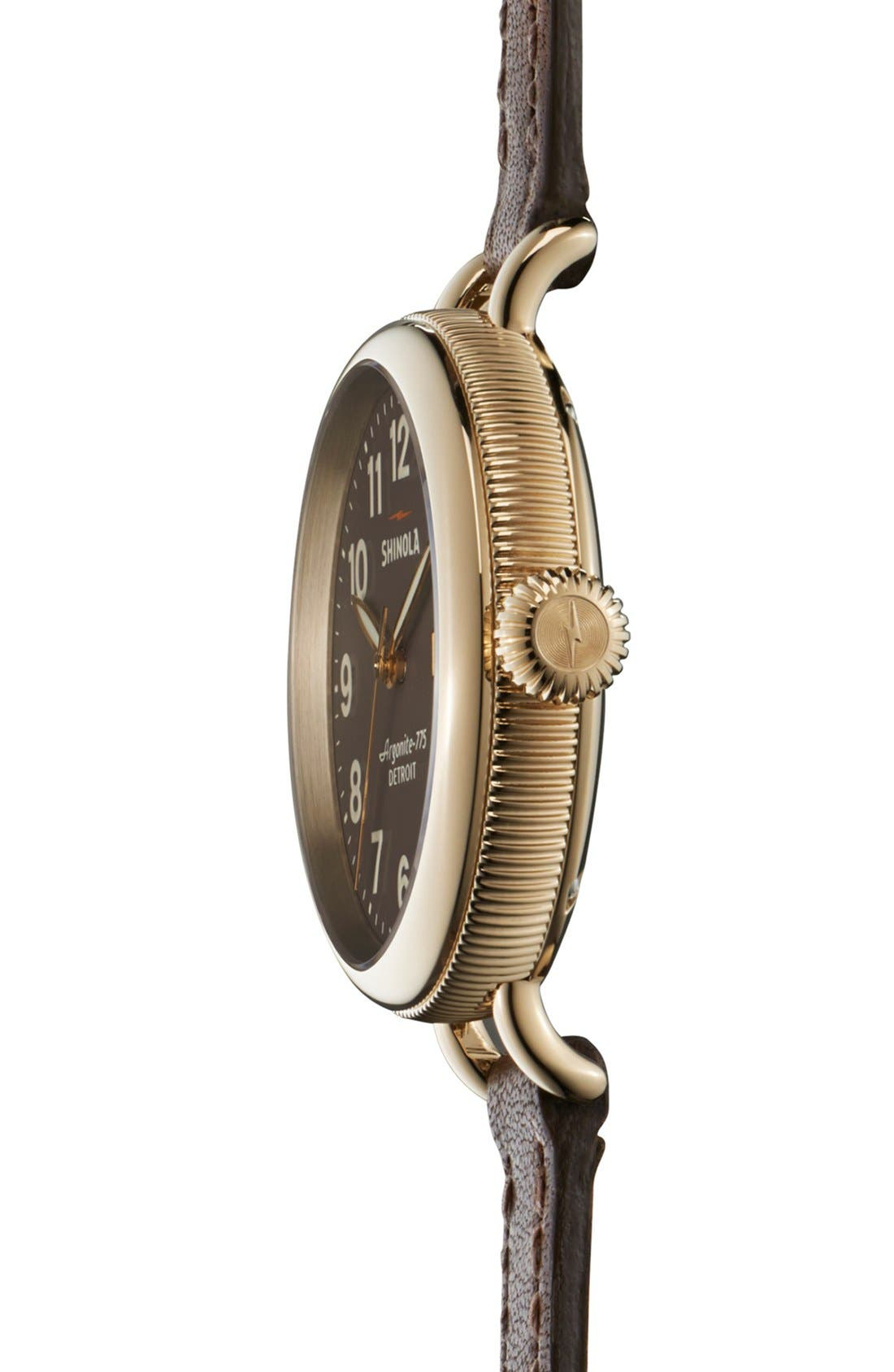 Alternate Image 3  - Shinola 'The Birdy' Double Wrap Leather Strap Watch, 34mm