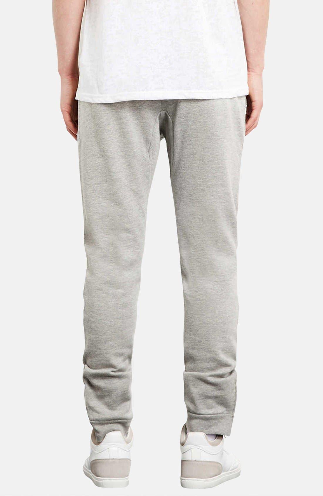 Alternate Image 2  - Topman Skinny Fit Jogger Pants with Zip Hems