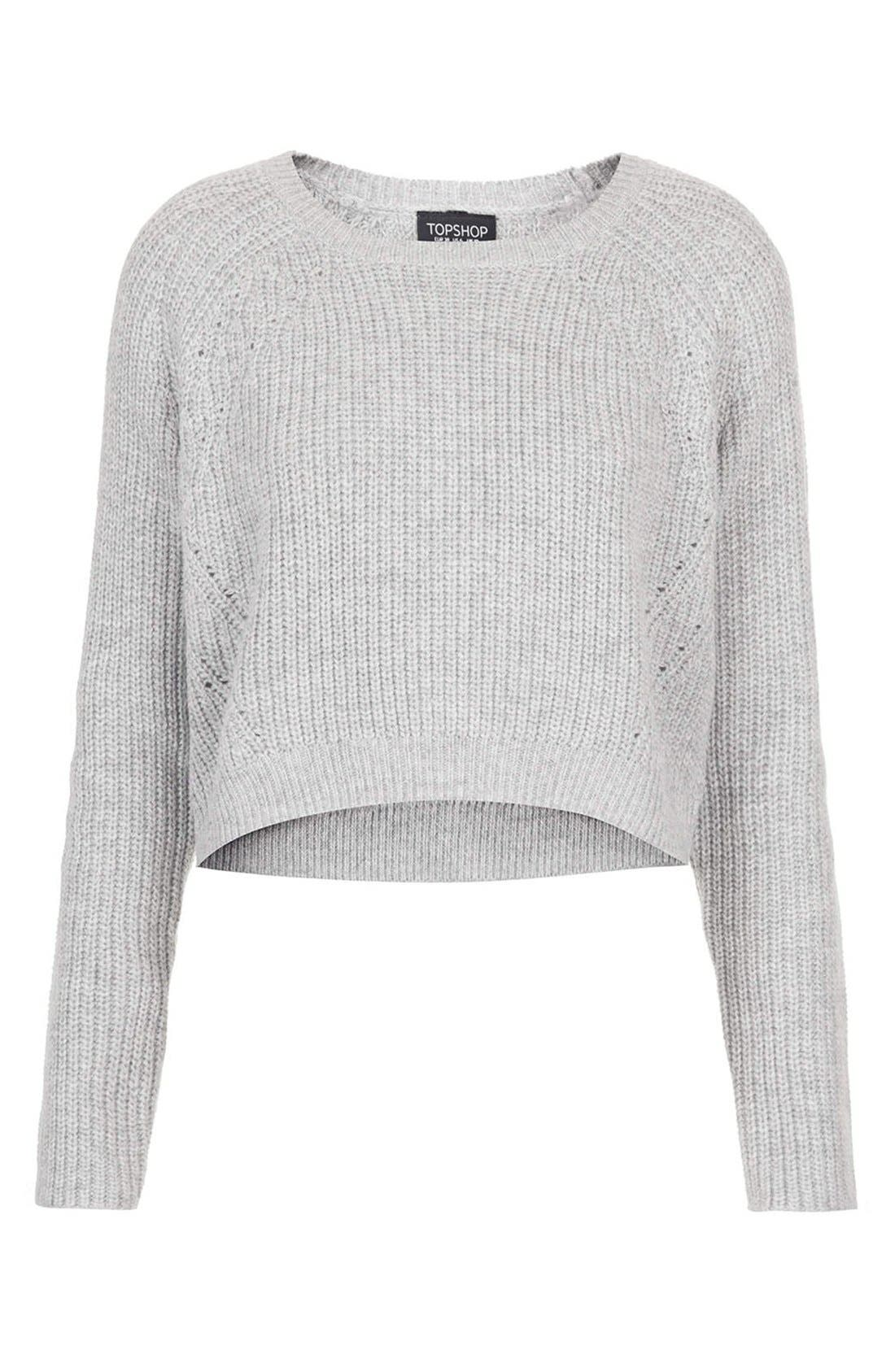 Alternate Image 3  - Topshop Ribbed Crop Sweater