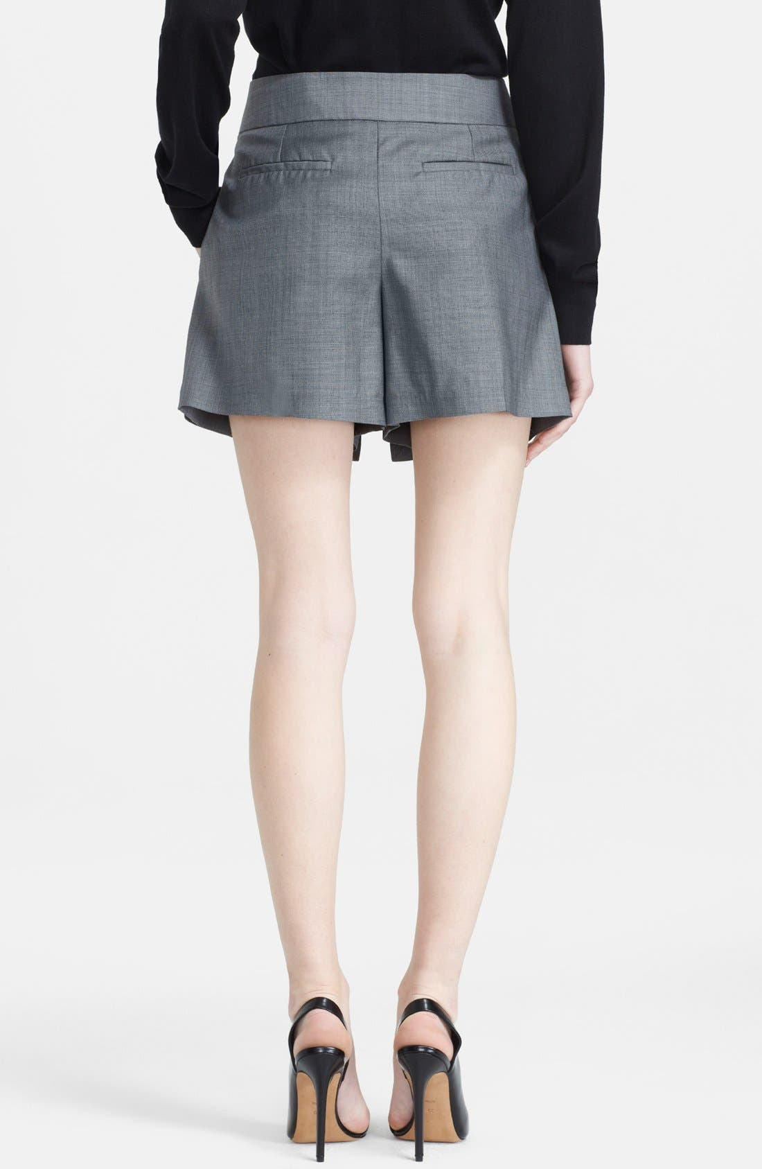 Alternate Image 2  - Alexander Wang Layered Wool Shorts