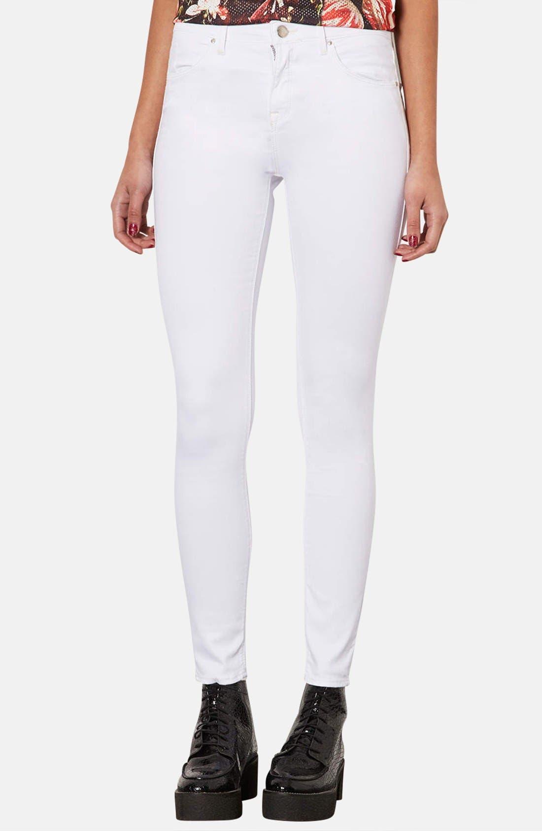 Alternate Image 1 Selected - Topshop Moto 'Leigh' Skinny Jeans (Regular & Short)