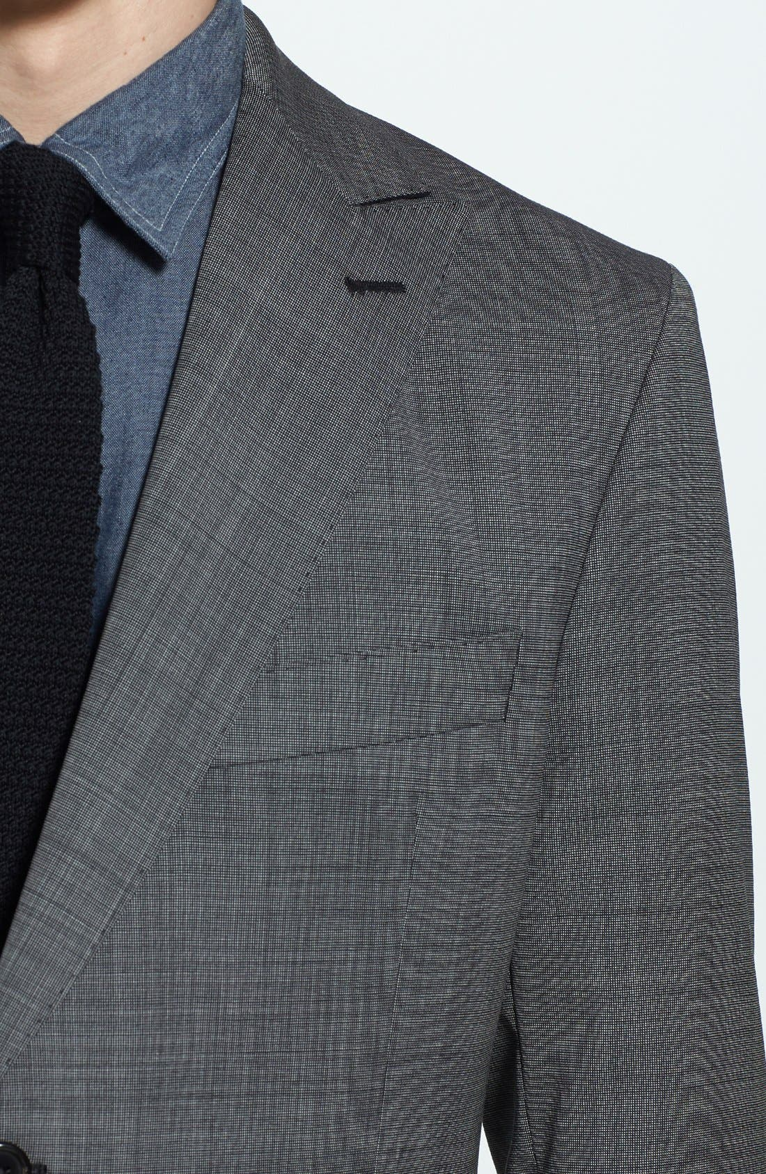 Alternate Image 5  - Todd Snyder Grey Wool Suit