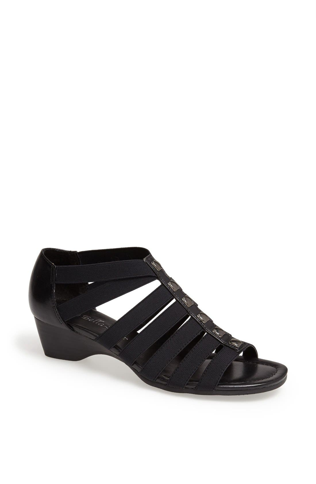 'Paula II' Sandal,                             Main thumbnail 1, color,                             Black