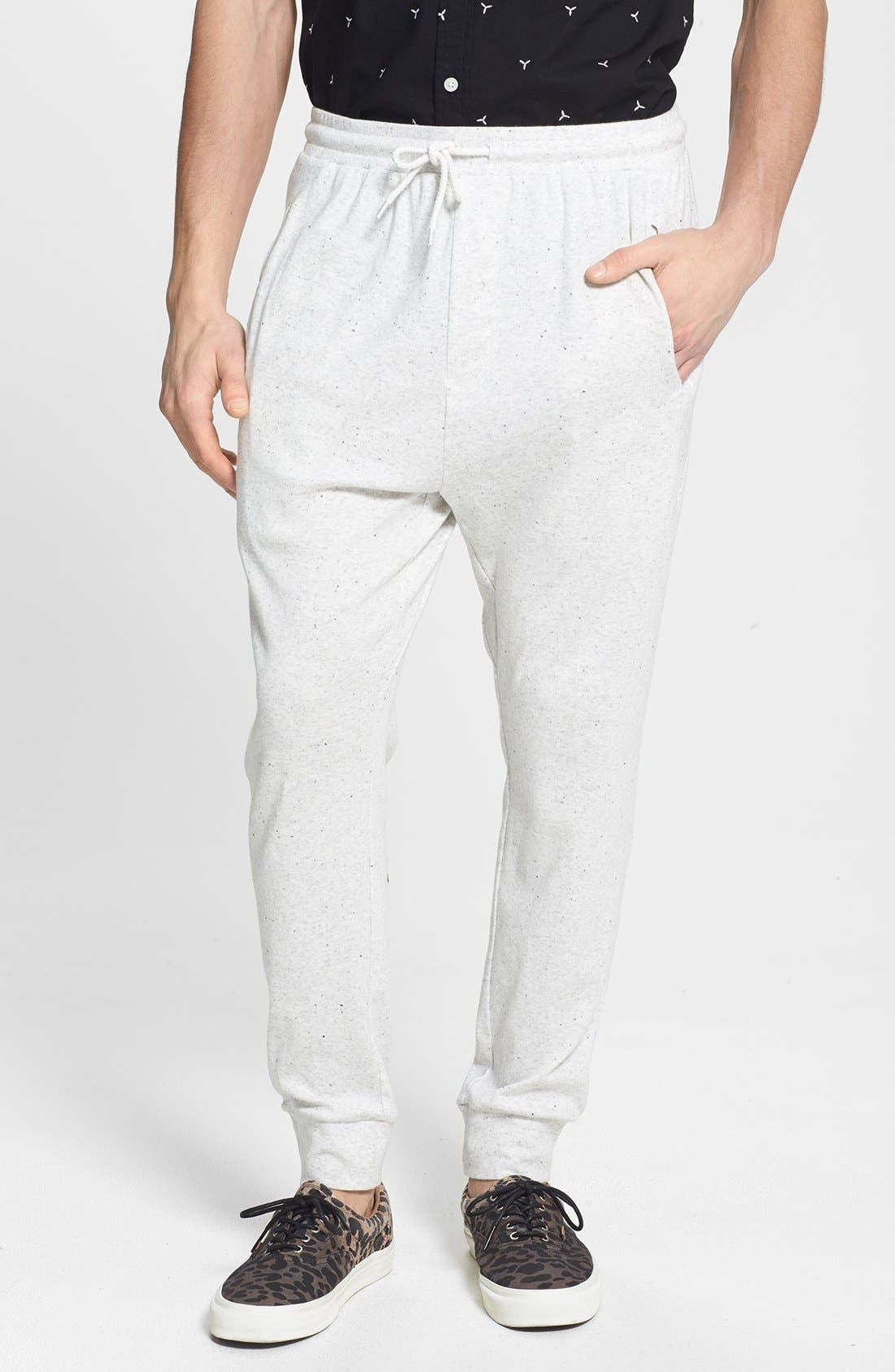 Alternate Image 1 Selected - TOPMAN ECRU NEP SWEATPANTS