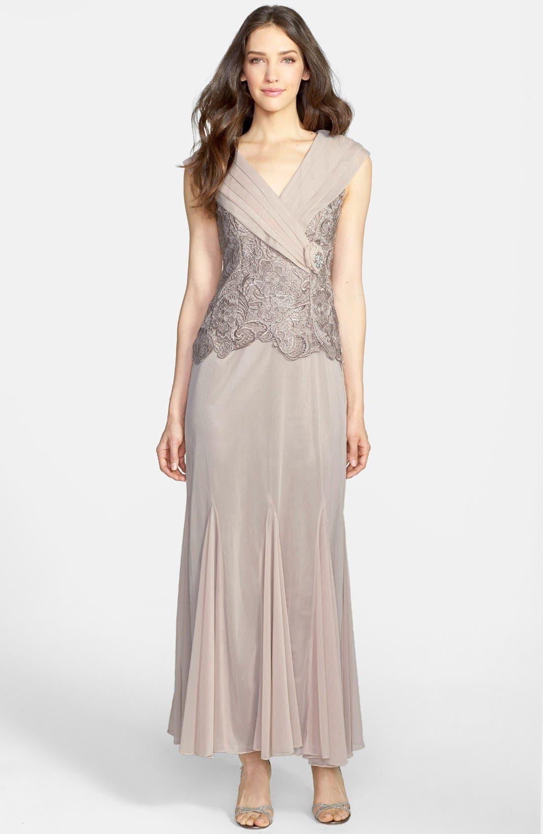 Alternate Image 1 Selected - Patra Venice Lace & Chiffon Dress