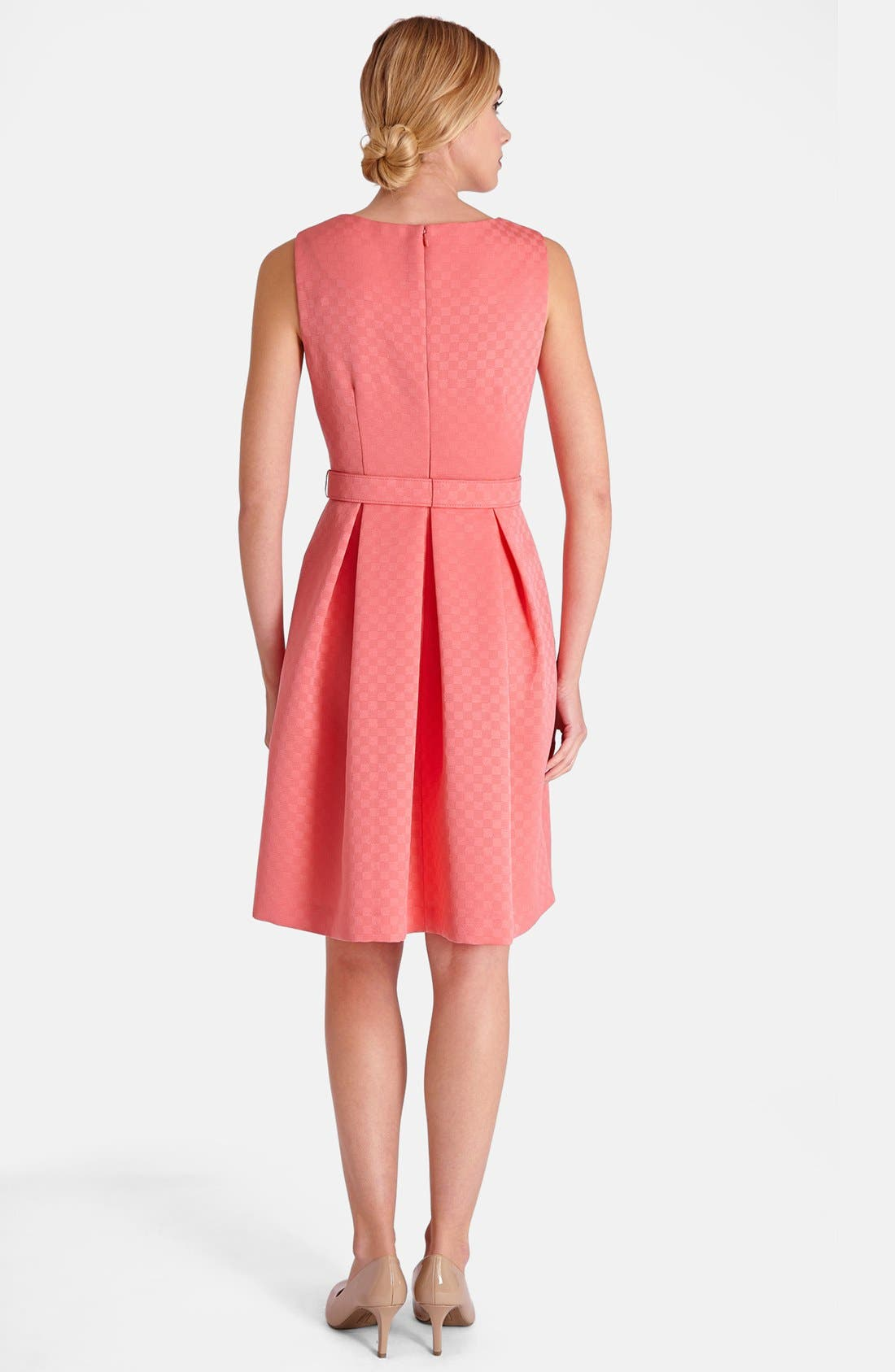 Alternate Image 2  - Tahari Jacquard Fit & Flare Dress (Petite)