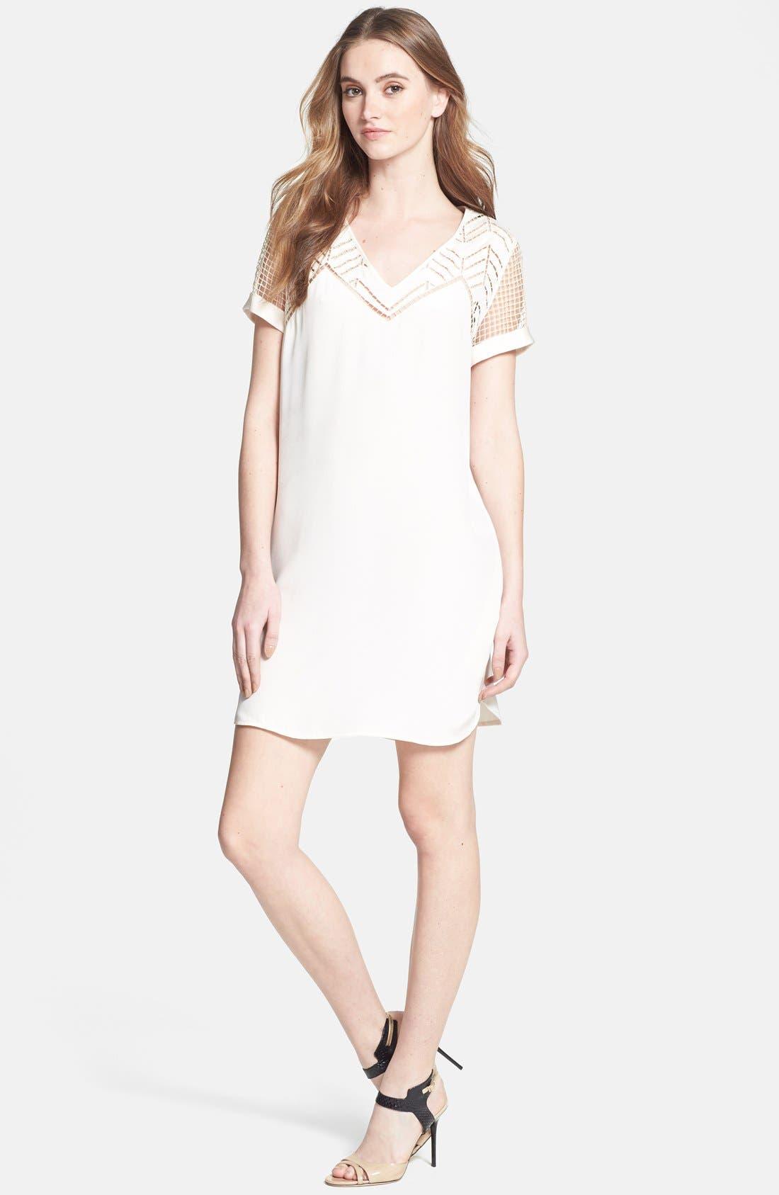 Alternate Image 1 Selected - Rebecca Minkoff 'Lorelei' Silk Shift Dress