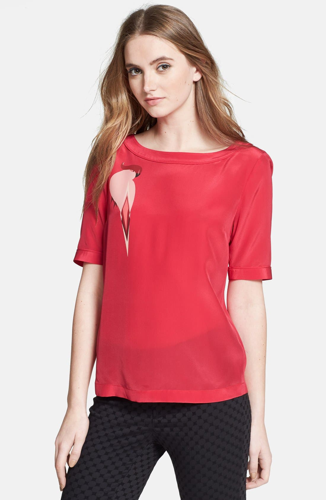 Main Image - MARC BY MARC JACOBS 'Capella' Graphic Silk Blouse