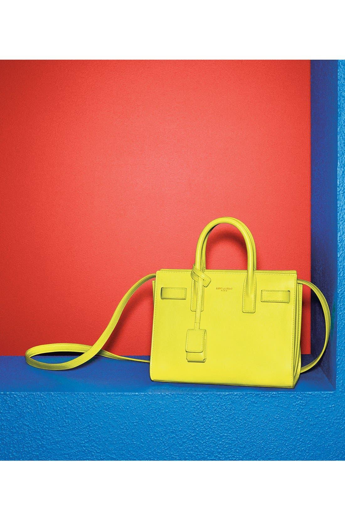 Alternate Image 5  - Saint Laurent 'Sac de Jour - Micro' Leather Tote