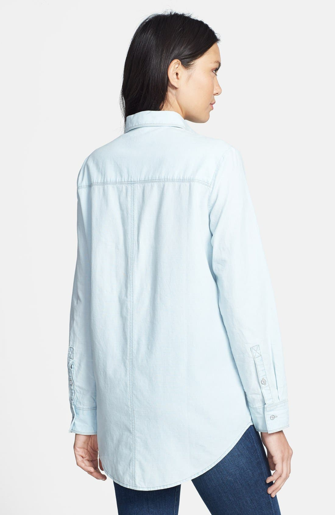Alternate Image 2  - Hinge® Boyfriend Chambray Shirt