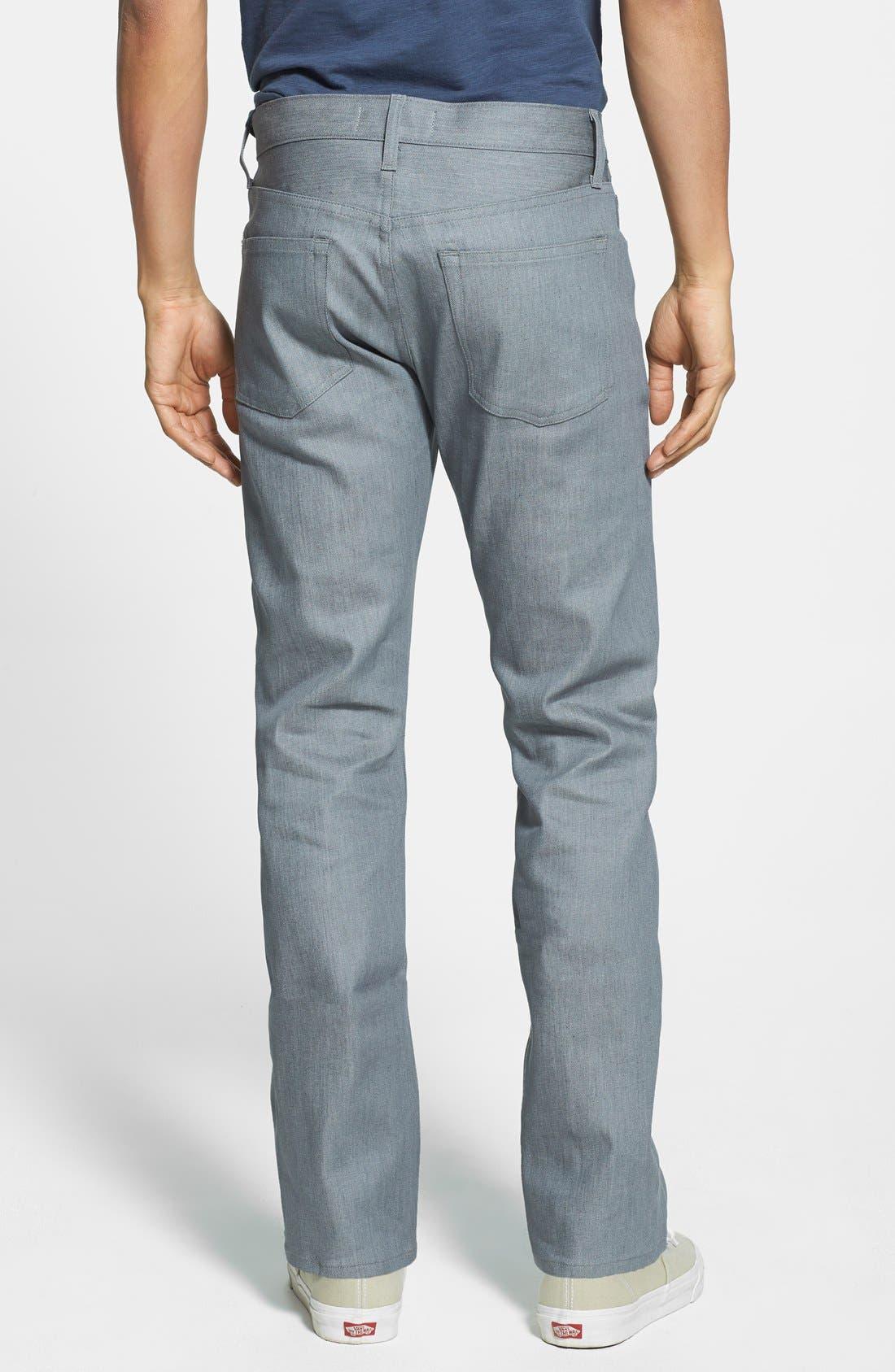 Alternate Image 2  - J Brand 'Kane' Slim Fit Jeans (Stretch Raw Silver)