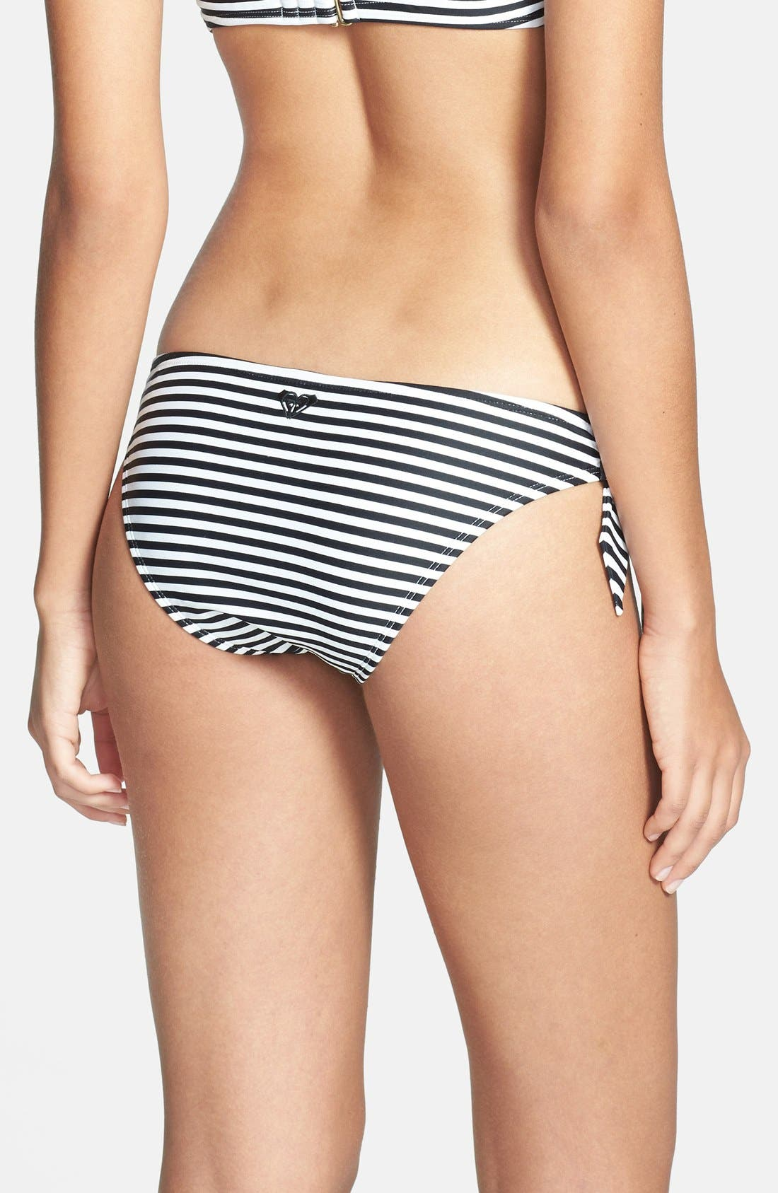 Alternate Image 2  - Roxy 'Sunset Stripes' Side Tie Low-Rise Bikini Bottoms