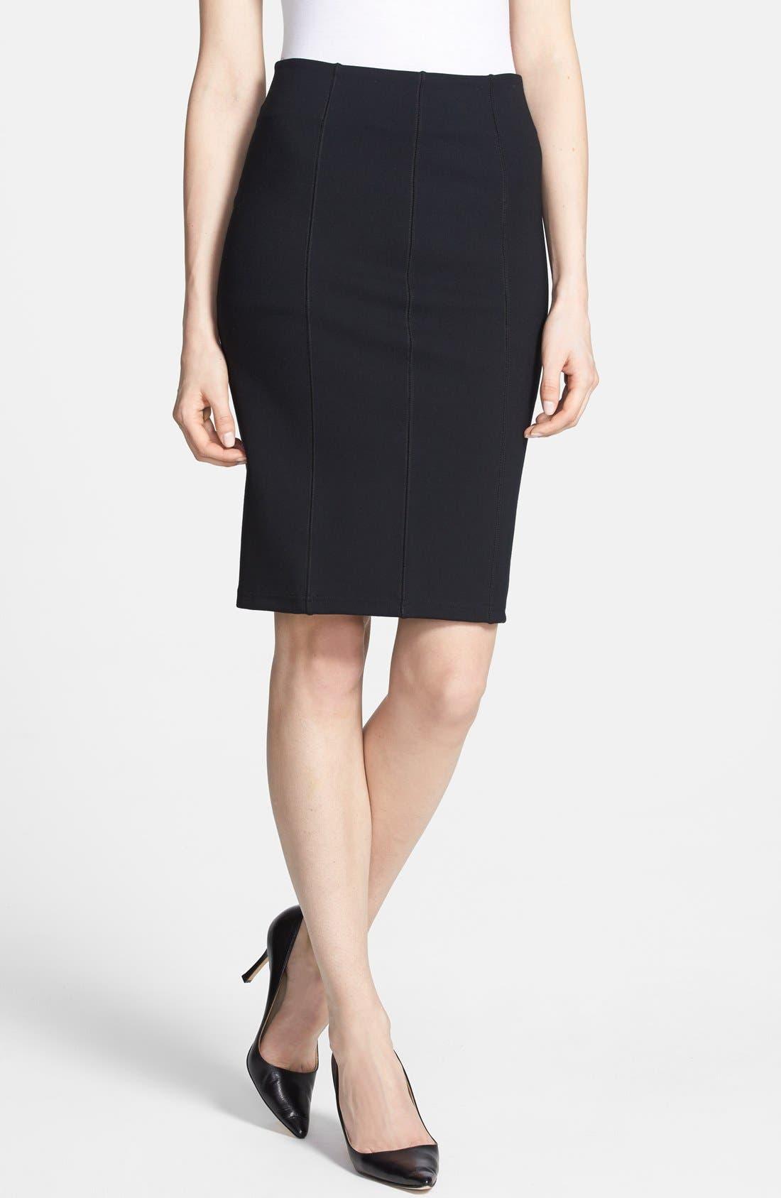 Main Image - Trouvé Seam Detail Pencil Skirt