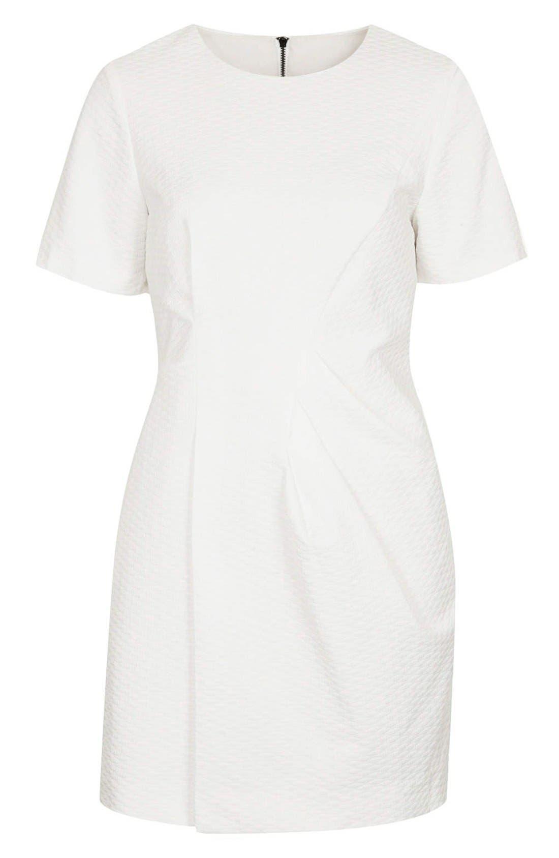 Alternate Image 3  - Topshop 'Premium' Textured Pleat Sheath Dress