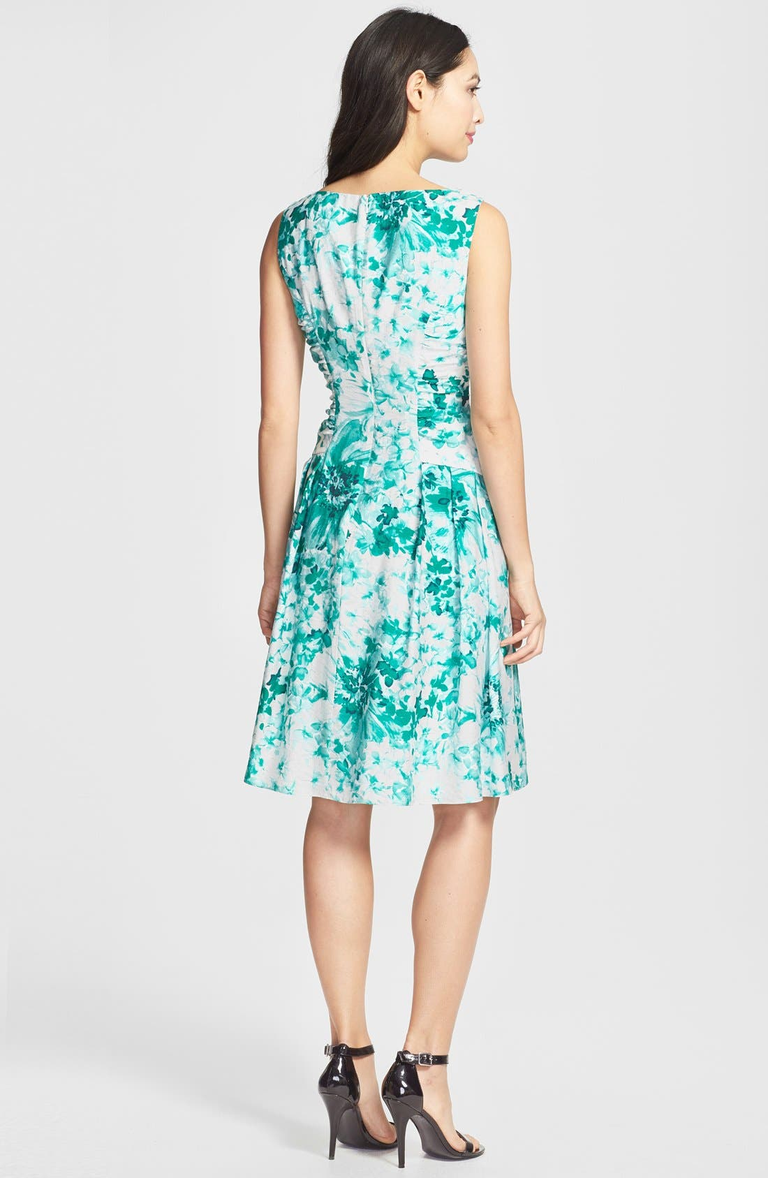 Alternate Image 2  - Adrianna Papell Beaded Neck Floral Print Fit & Flare Dress