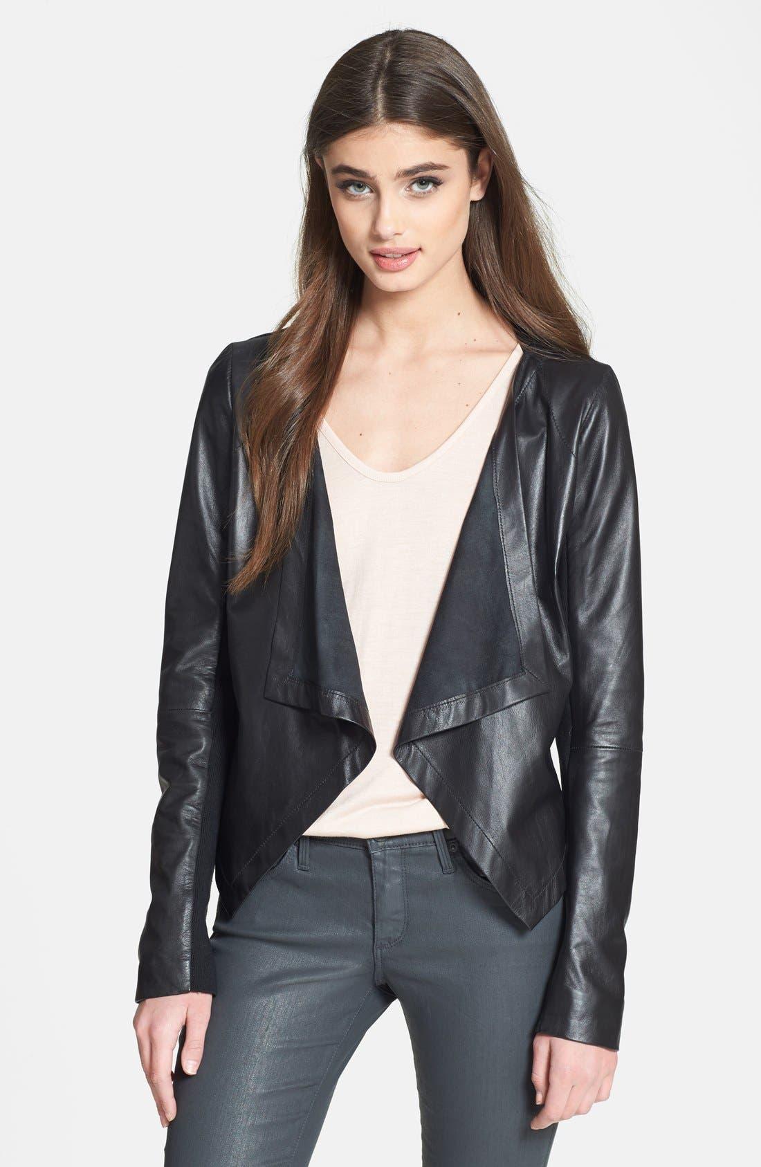 Alternate Image 1 Selected - Cascade Leather Jacket