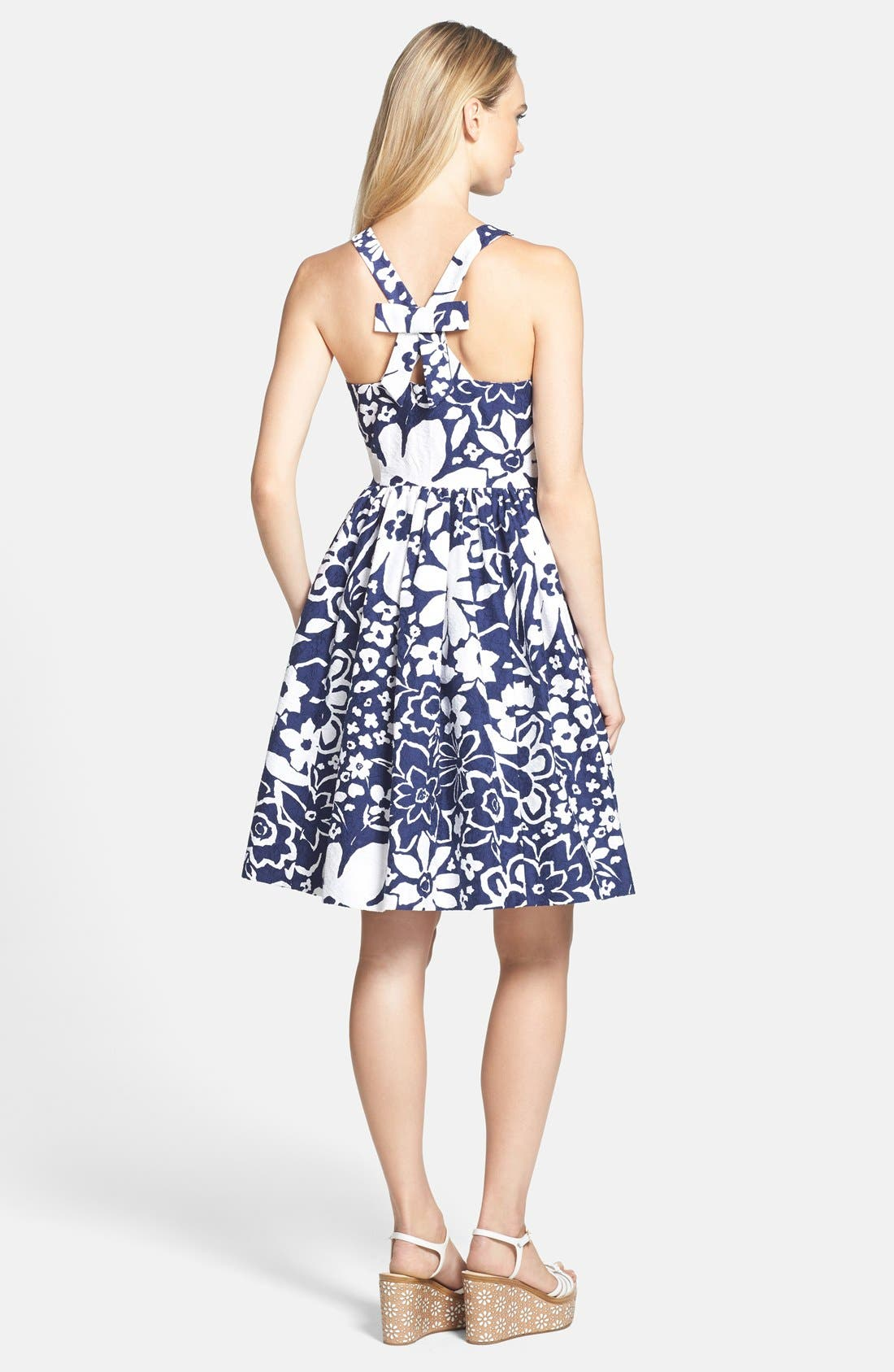 Alternate Image 2  - kate spade new york cutaway back fit & flare dress