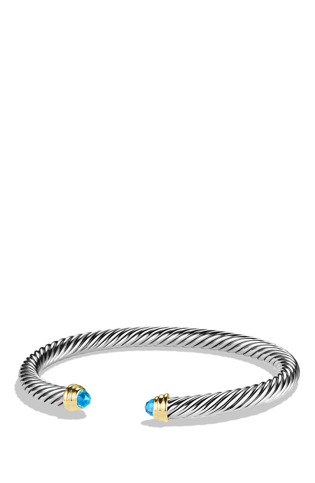 David Yurman 'Cable Classics' Bracelet with Semiprecious Stones & Gold