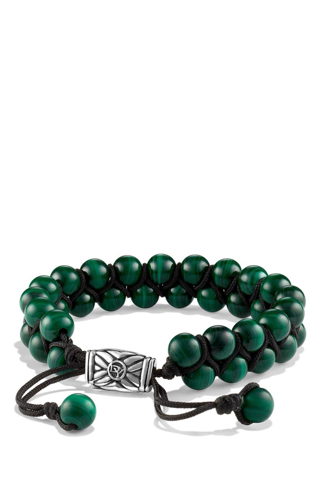 Alternate Image 1 Selected - David Yurman 'Spiritual Beads' Two-Row Bracelet with Malachite