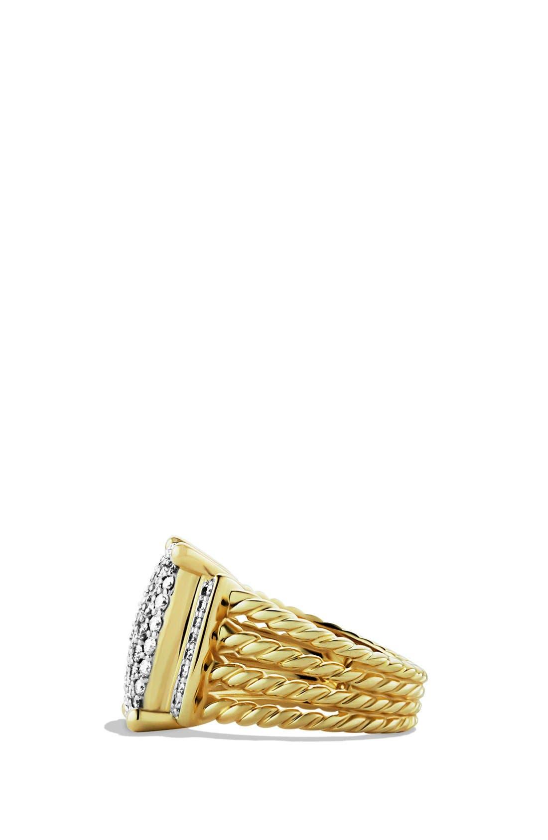 Alternate Image 2  - David Yurman 'Wheaton' Ring with Diamonds in Gold