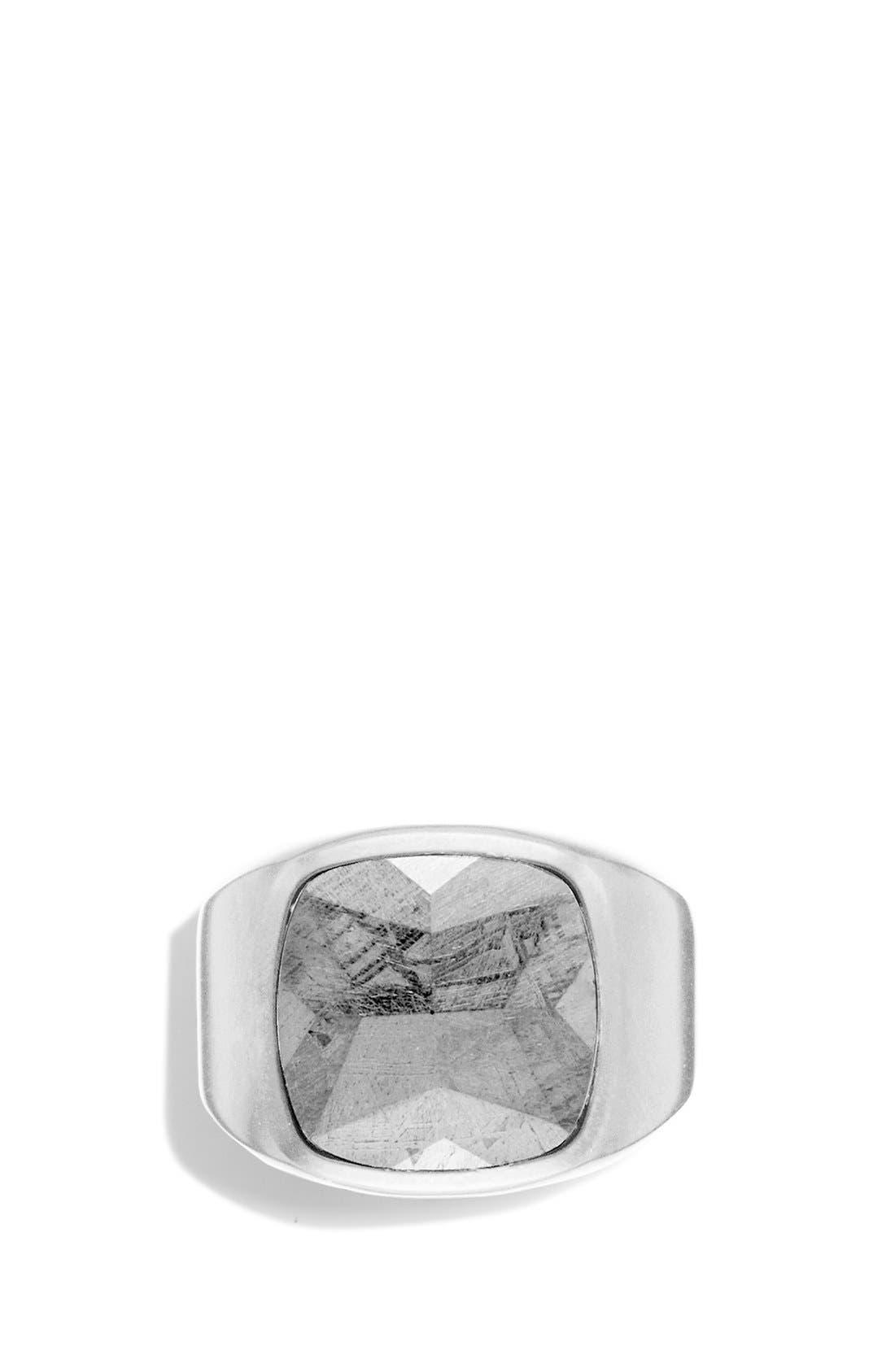 Signet Ring with Meteorite,                             Alternate thumbnail 3, color,                             Meteorite