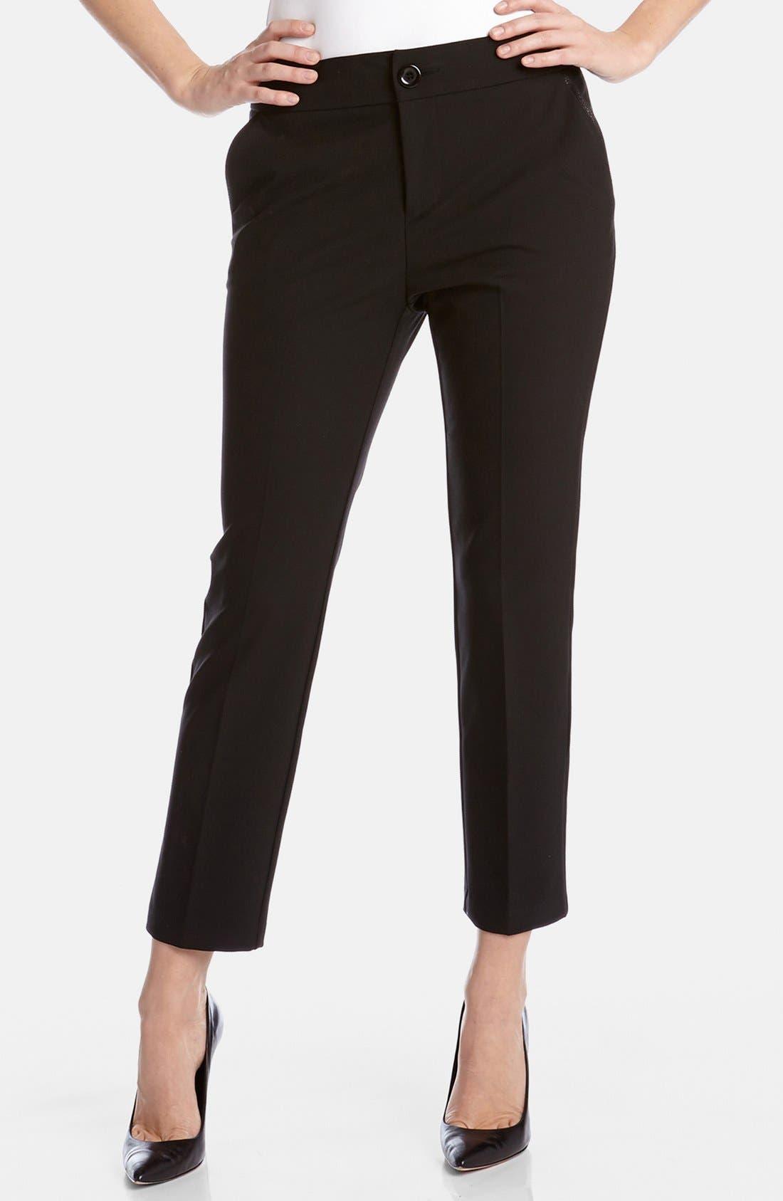 Alternate Image 1 Selected - Karen Kane Slim Crop Pants