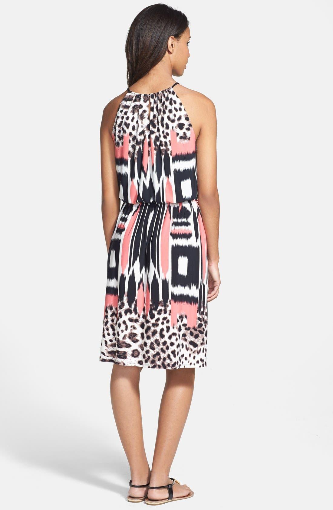 Alternate Image 2  - Maggy London Print Blouson Jersey Dress