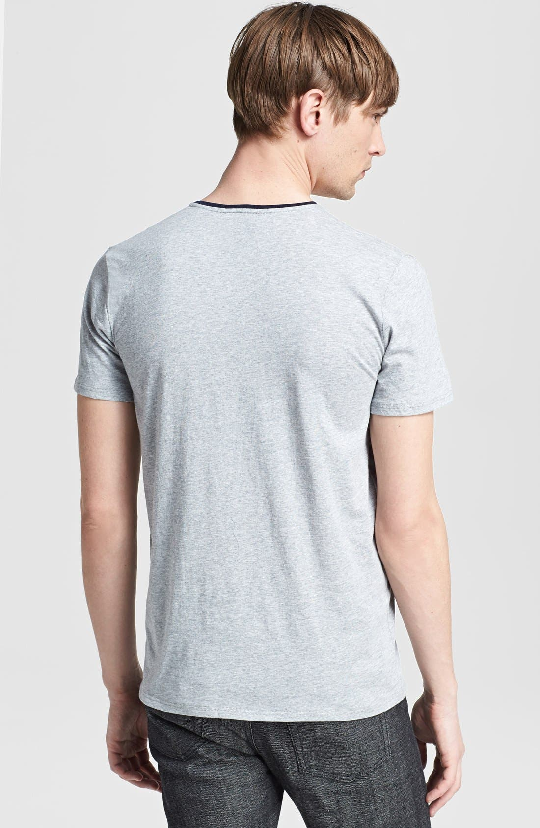 Alternate Image 2  - The Kooples Embroidered Pocket V-Neck T-Shirt