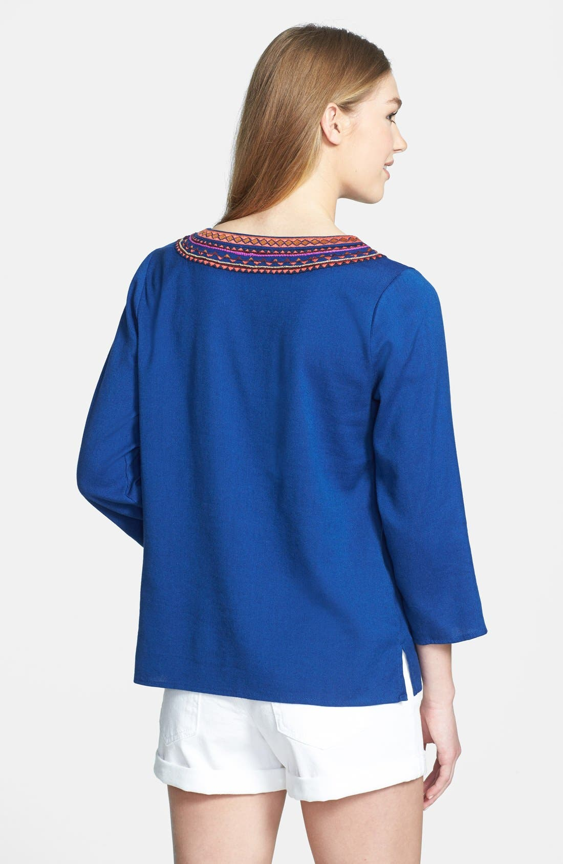 Alternate Image 2  - Lucky Brand 'Sodalite' Embroidered Blouse