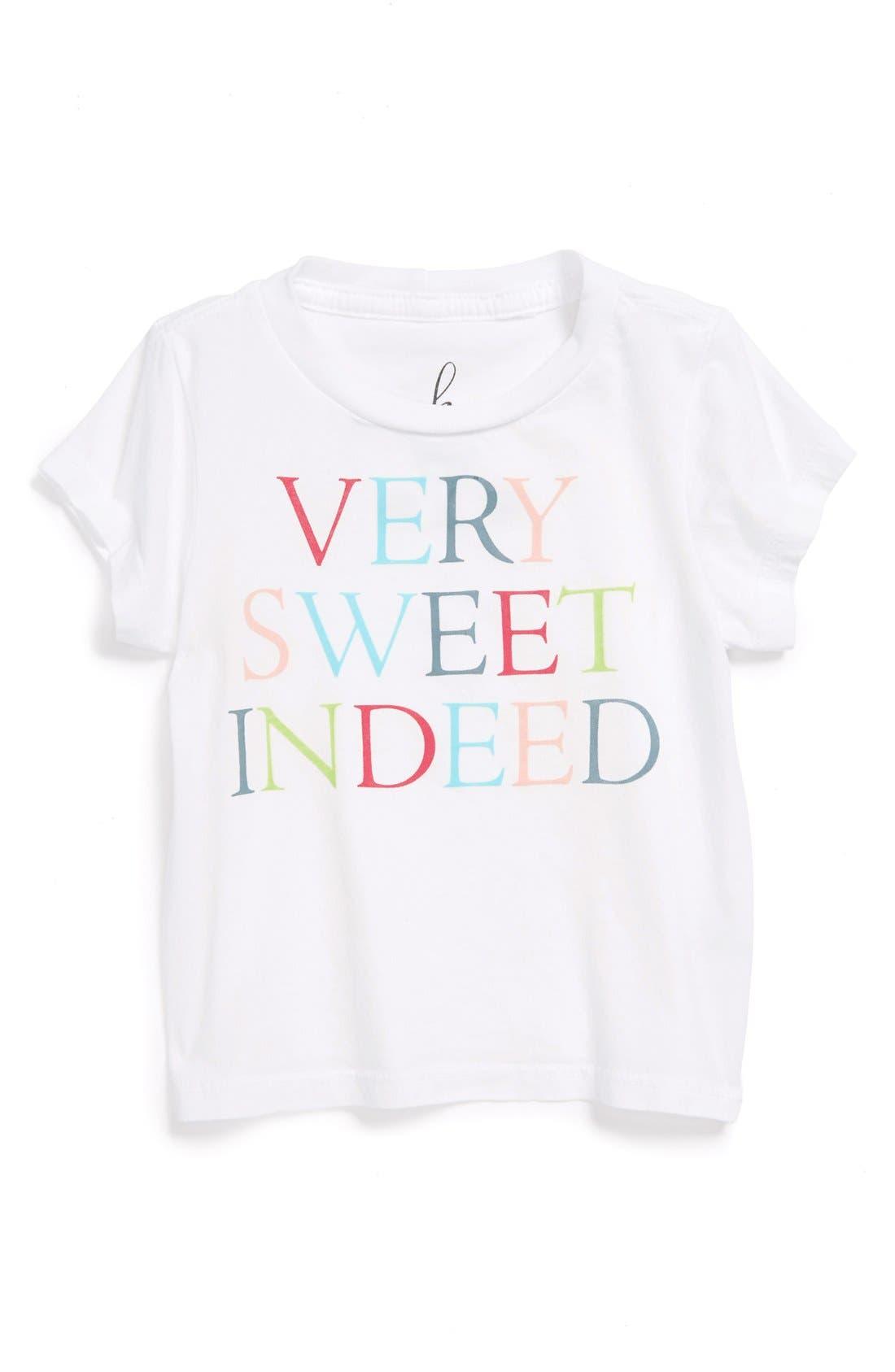 Alternate Image 1 Selected - Peek 'Very Sweet Indeed' Tee (Baby Girls)