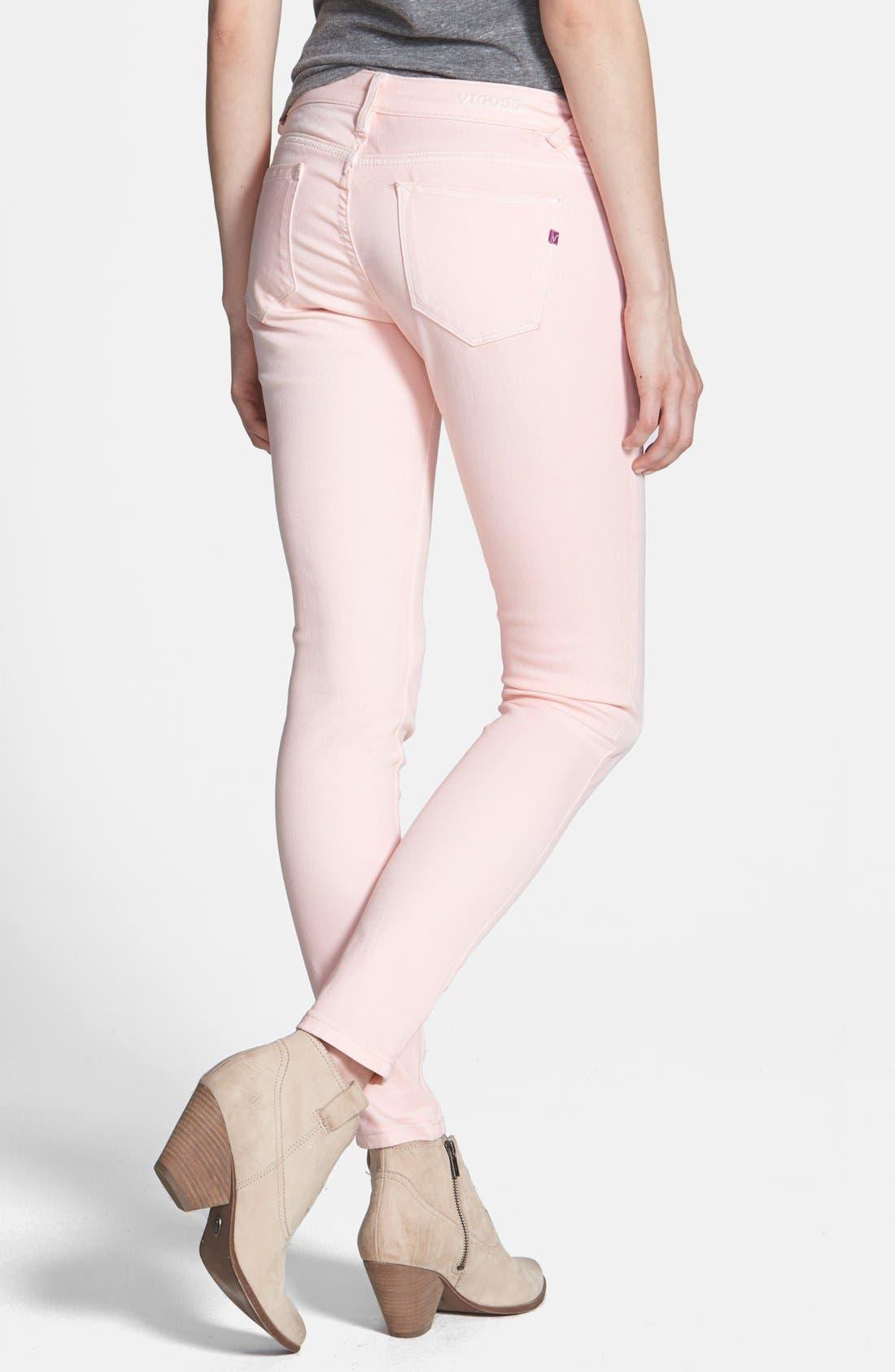 Alternate Image 2  - Vigoss Skinny Ankle Jeans (Light Pink) (Juniors) (Online Only)