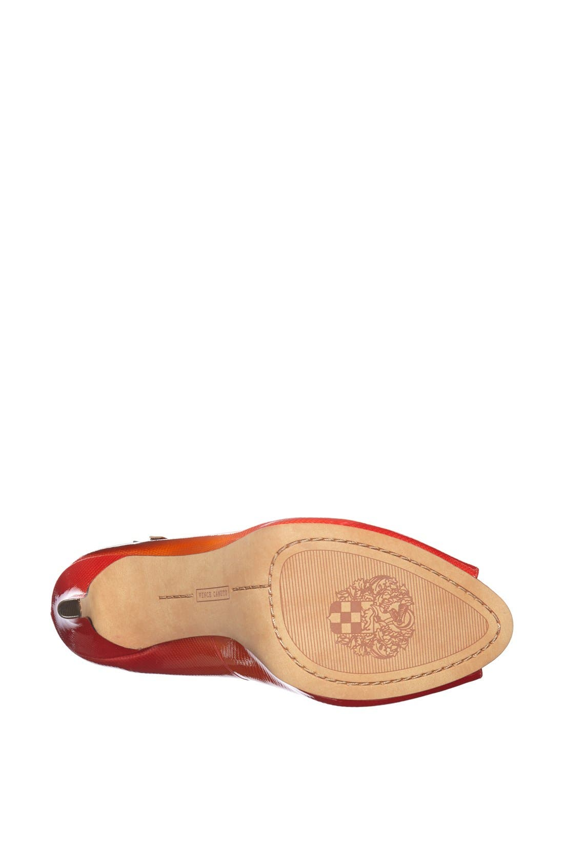 Alternate Image 4  - Vince Camuto 'Carlii' Patent Leather Peep Toe Pump