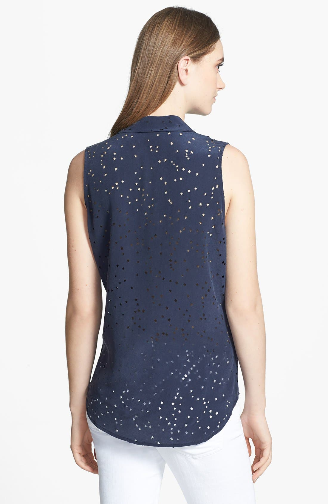 Alternate Image 2  - Equipment 'Colleen' Star Cutout Silk Shirt