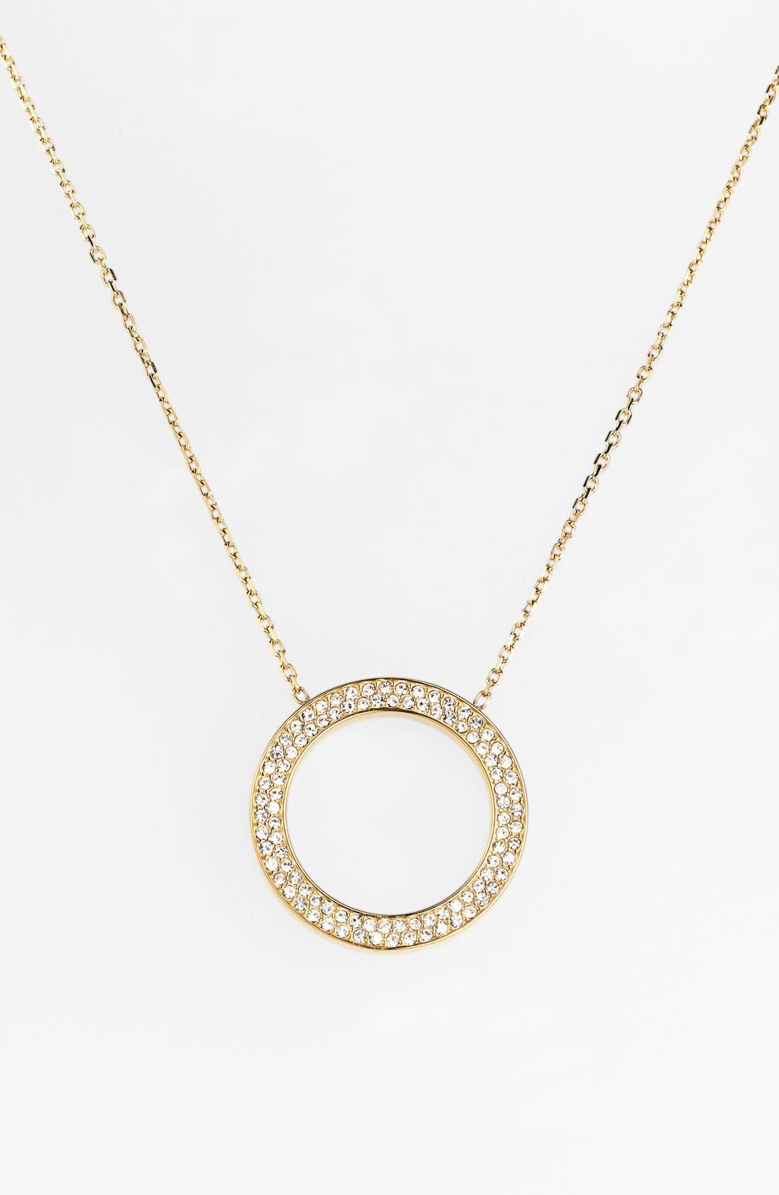 Alternate Image 2  - Michael Kors 'Statement Brilliance' Circle Pendant Necklace