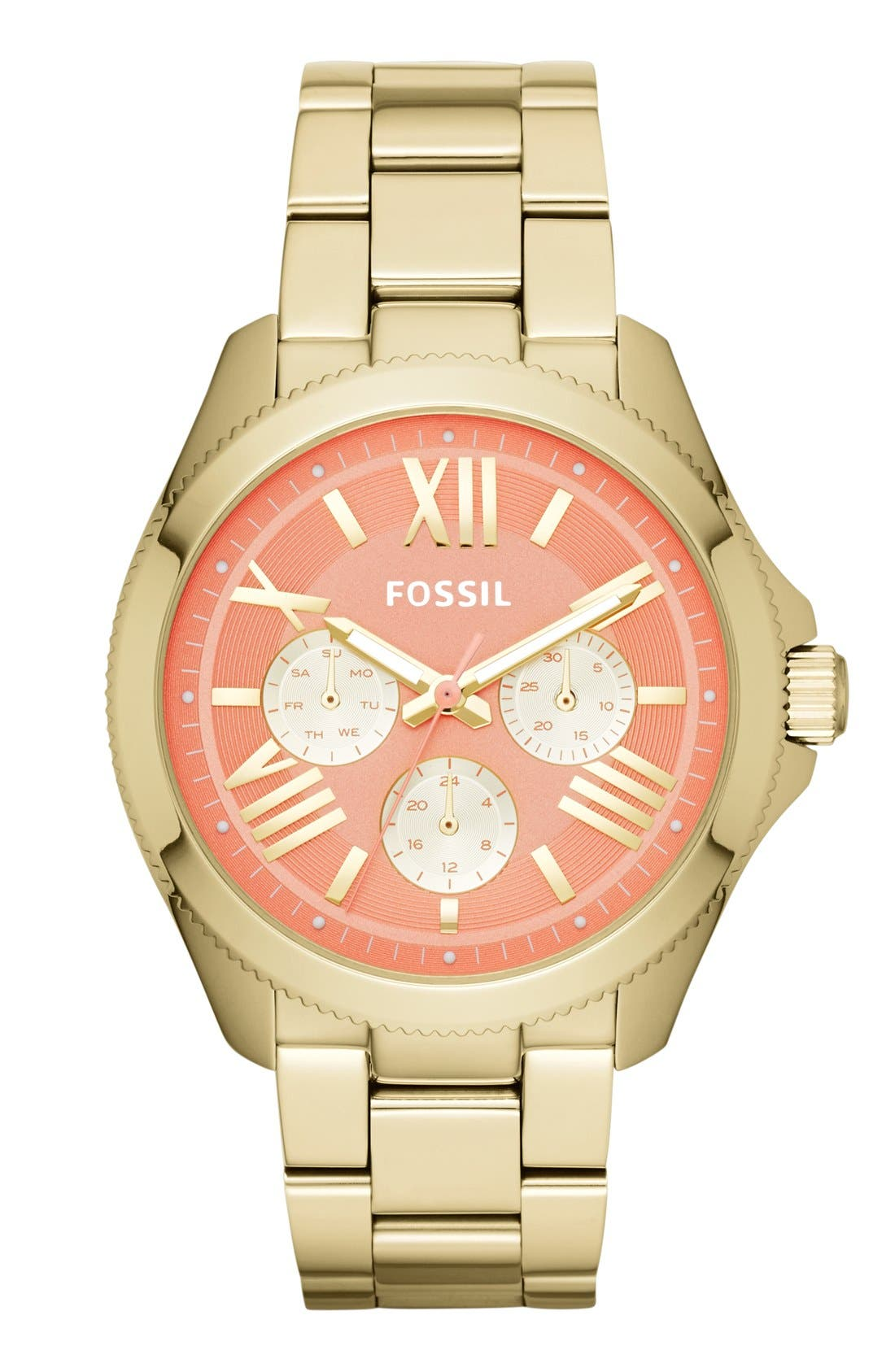 Alternate Image 1 Selected - Fossil 'Cecile' Multifunction Bracelet Watch, 40mm
