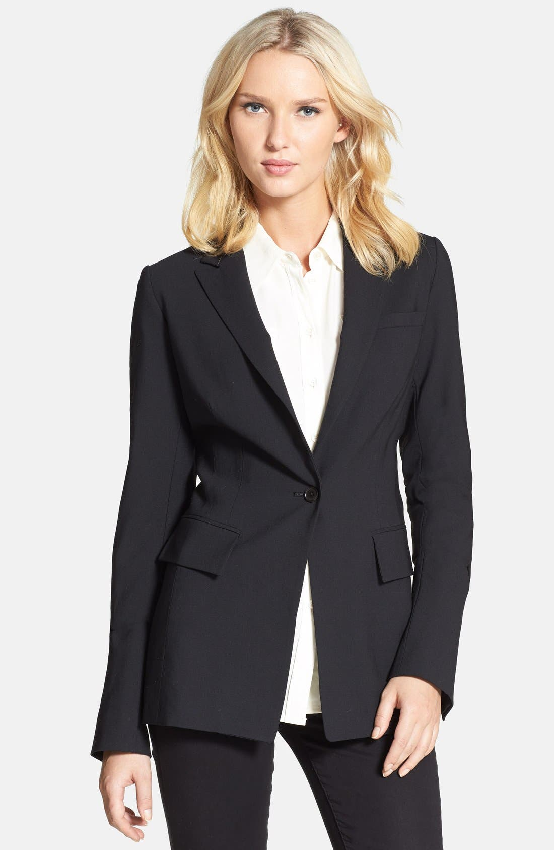 Alternate Image 1 Selected - Rachel Roy Elbow Patch Fitted Blazer