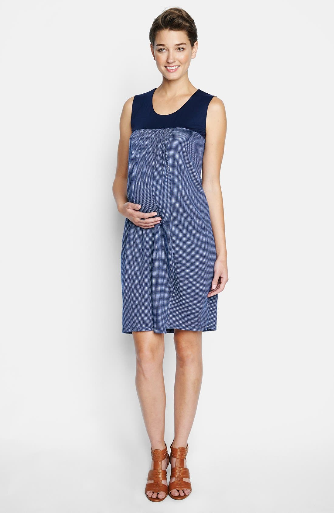 Alternate Image 1 Selected - Maternal America 'Babydoll' Maternity Dress