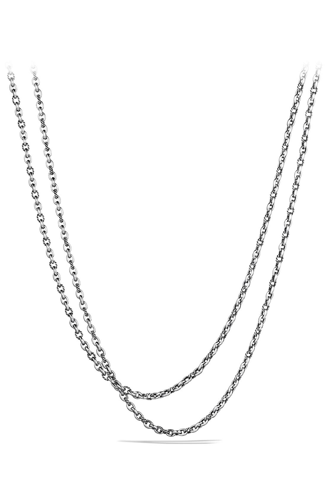 'Oval' Link Necklace,                         Main,                         color, Silver