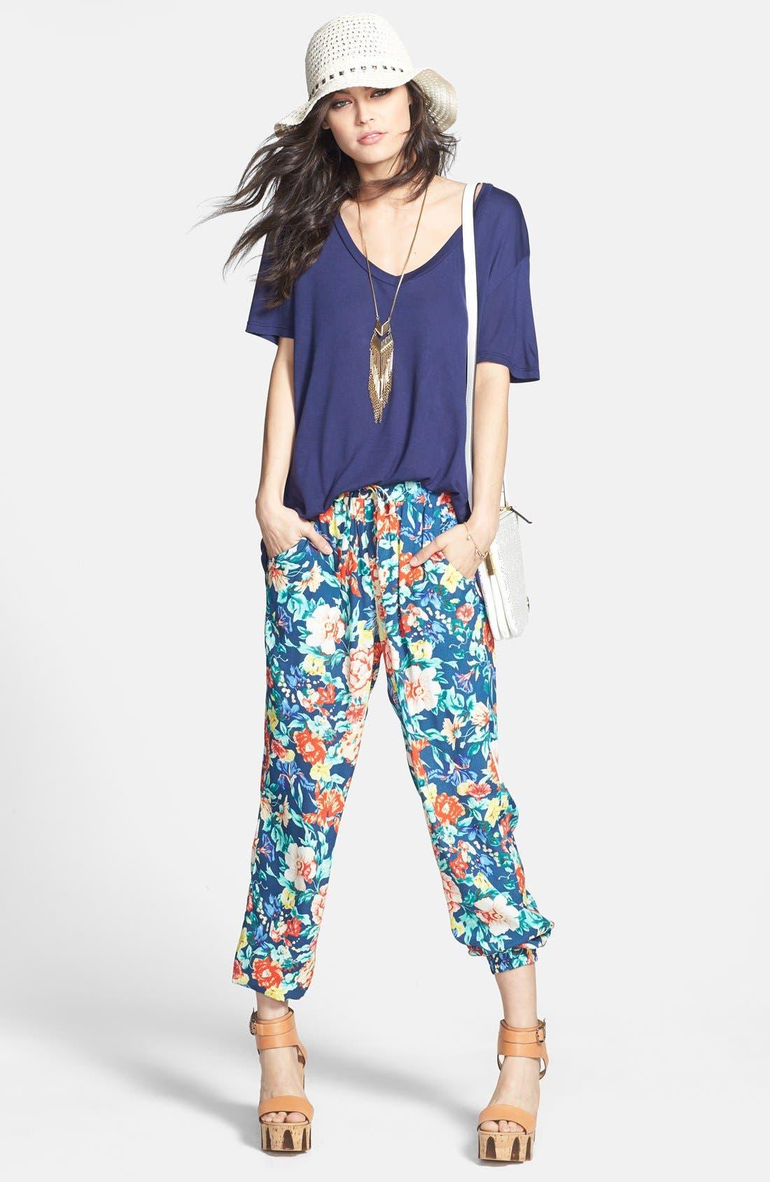 Alternate Image 4  - MINKPINK 'Acid Bloom' Floral Print Jogger Pants